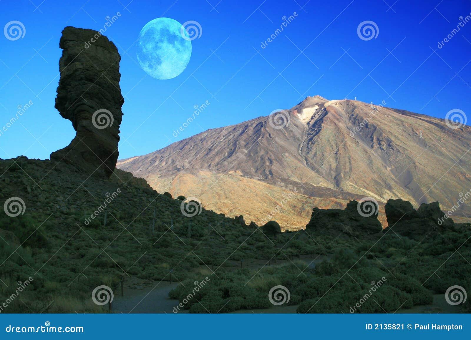 Lune de Teide de support