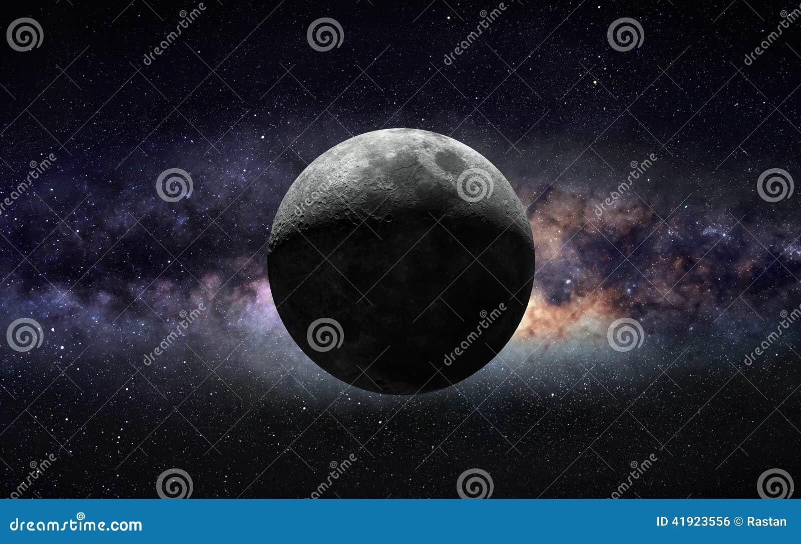 Lune et galaxie