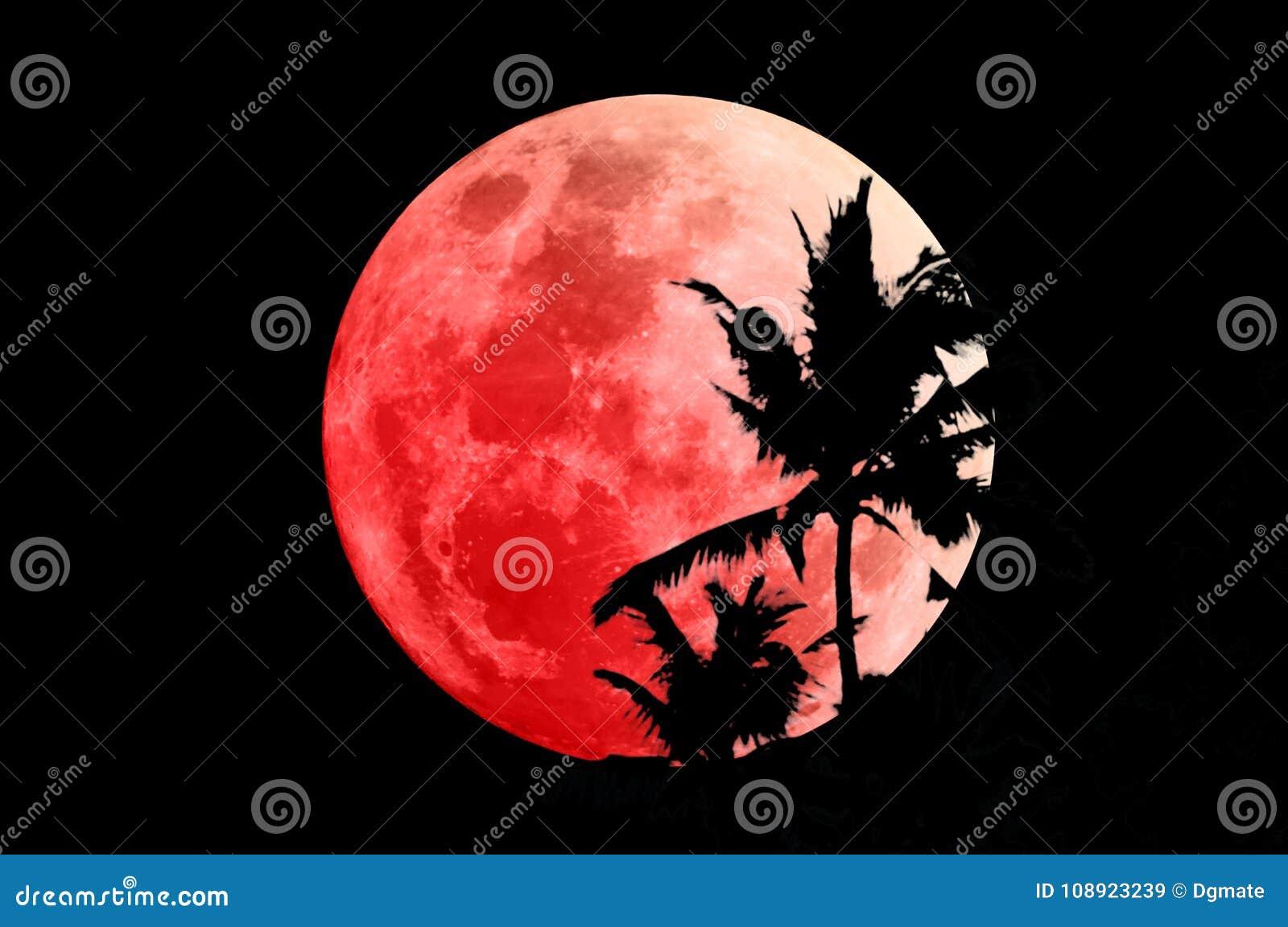 Lune superbe de sang bleu le 31 janvier 2018