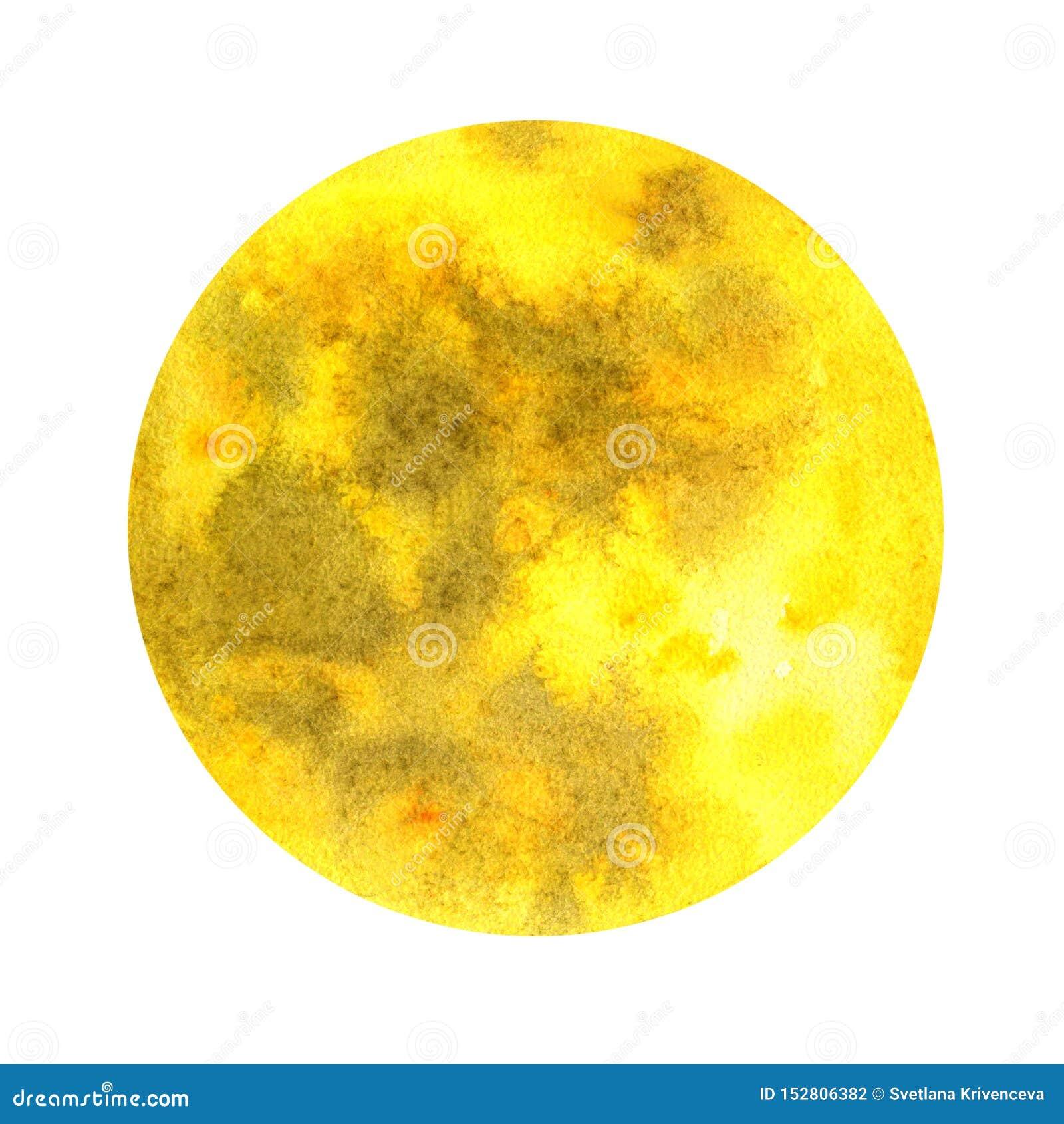 Lune sur un fond blanc