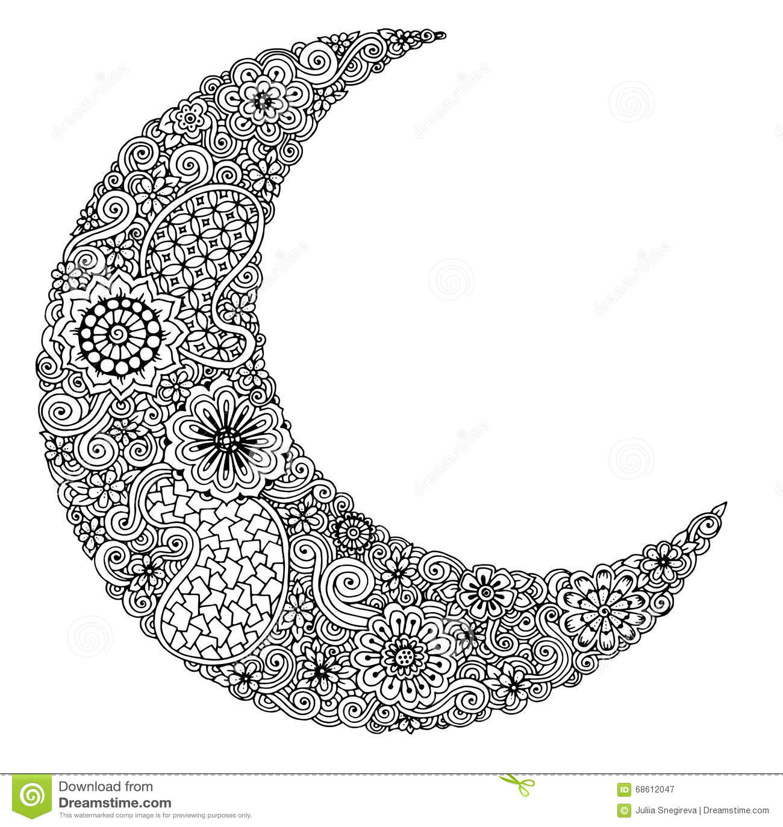 Dorable Coloriage Mandala Loup Lune Motif - Printable Coloring Pages ...