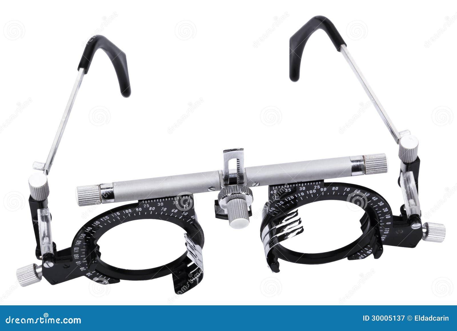 lunettes d 39 isolement d 39 essai de vue image stock image du m tal noir 30005137. Black Bedroom Furniture Sets. Home Design Ideas