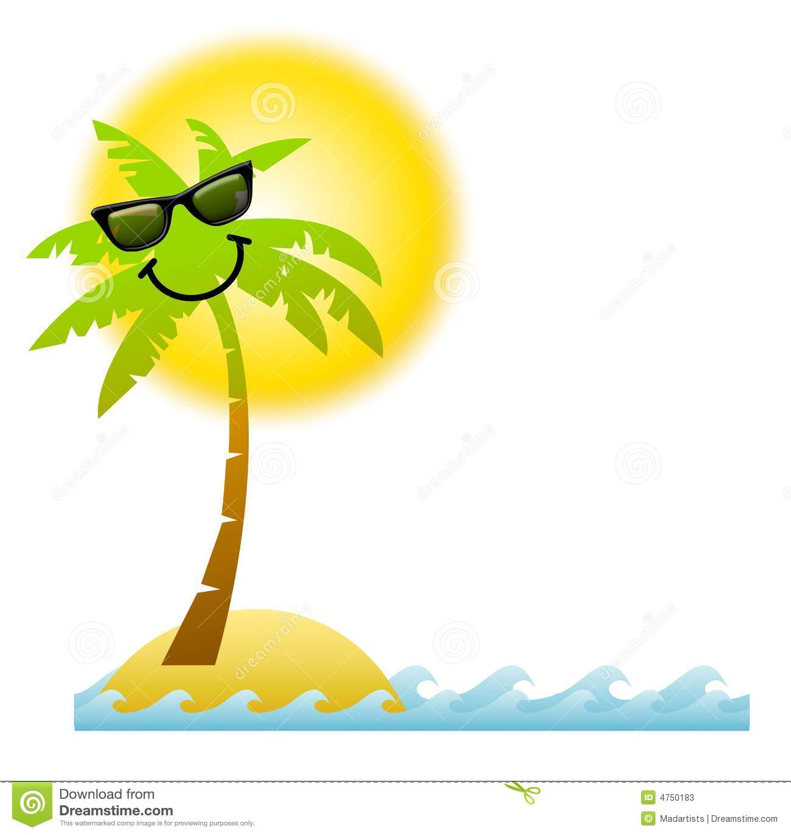 Lunettes de soleil de palmier de dessin anim illustration stock illustration du bleu fond - Photos de toutes sortes de palmiers ...
