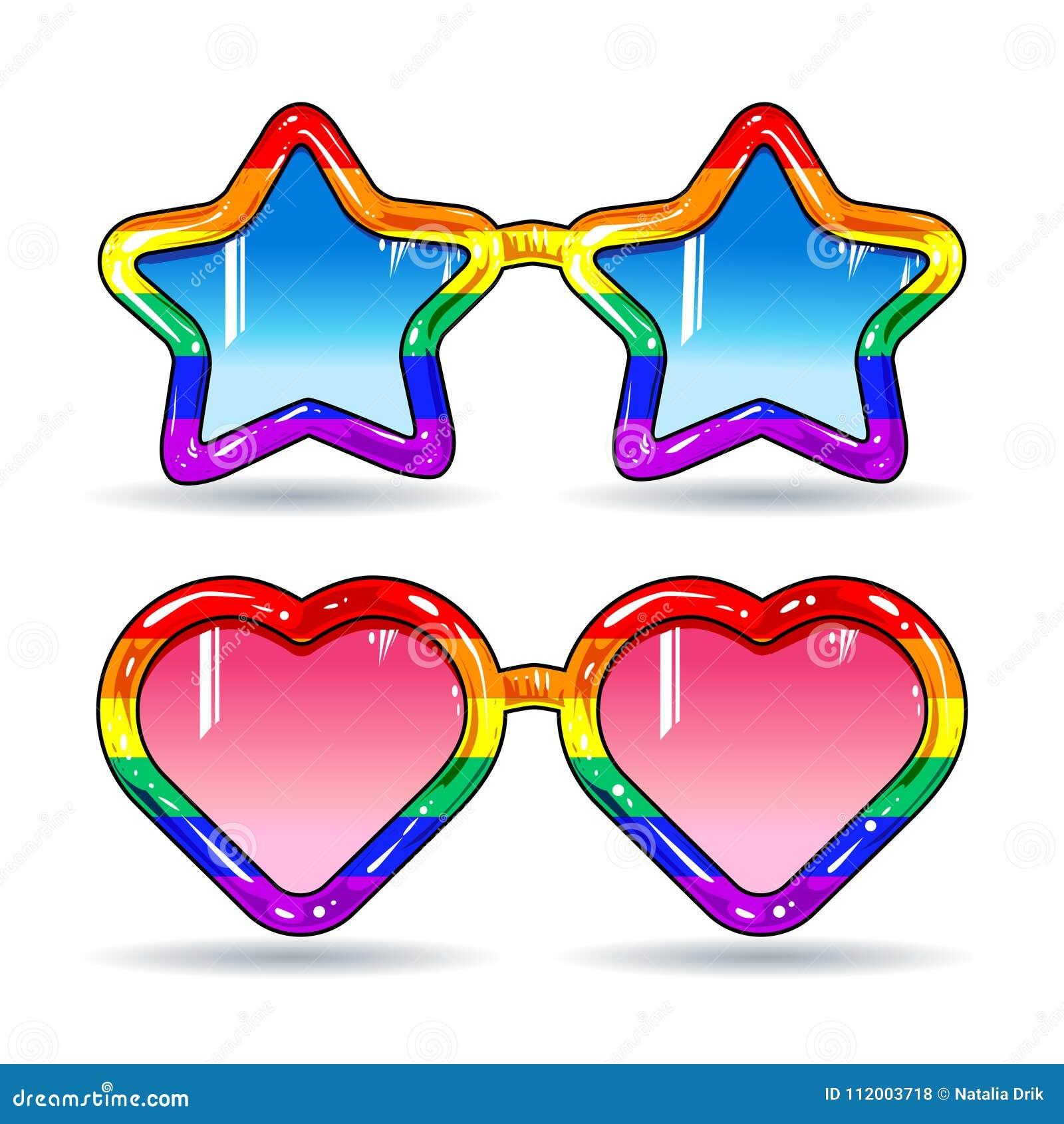 Lunettes De Soleil De Disco Sous Forme De Coeurs Et étoiles