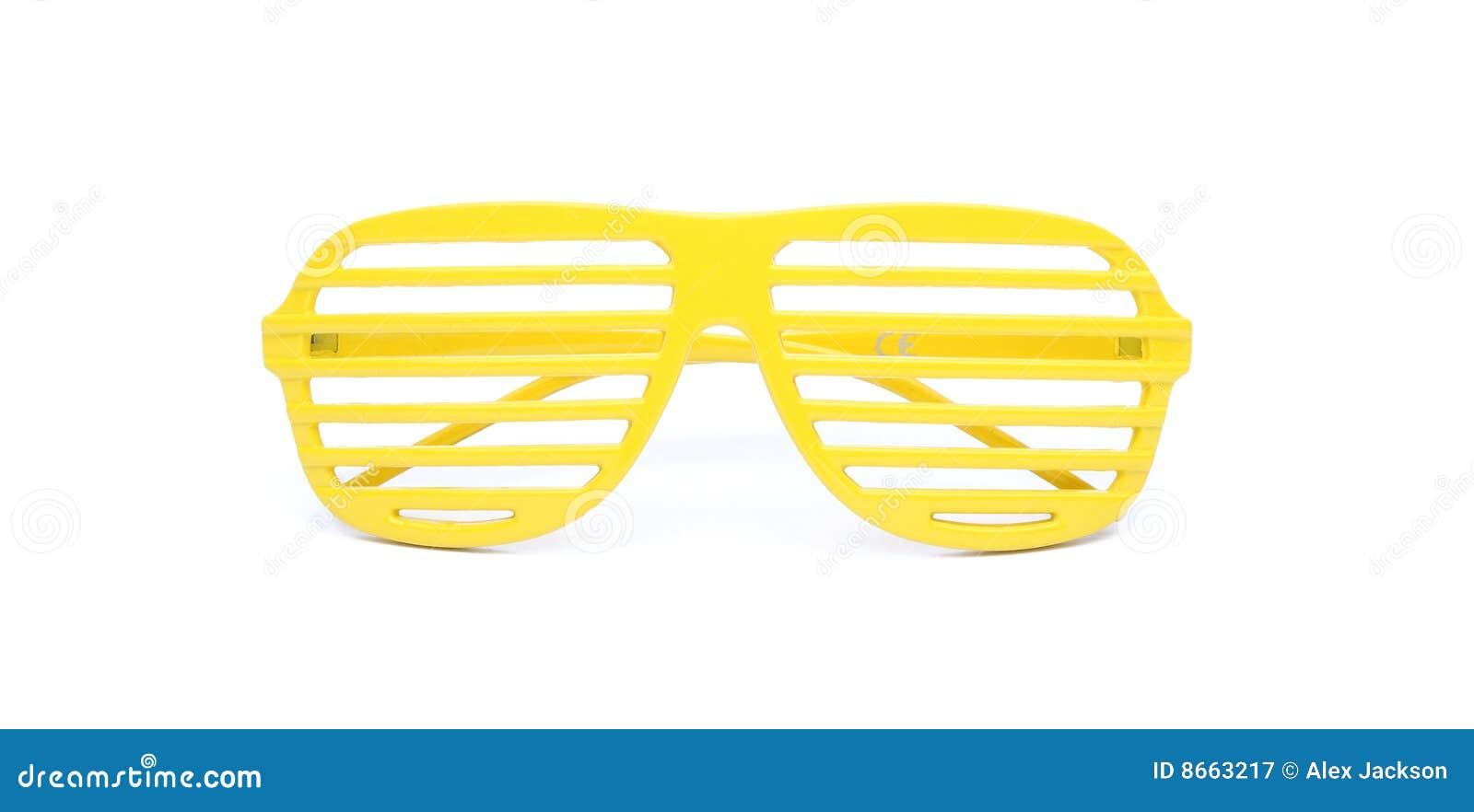 Lunettes de soleil jaunes