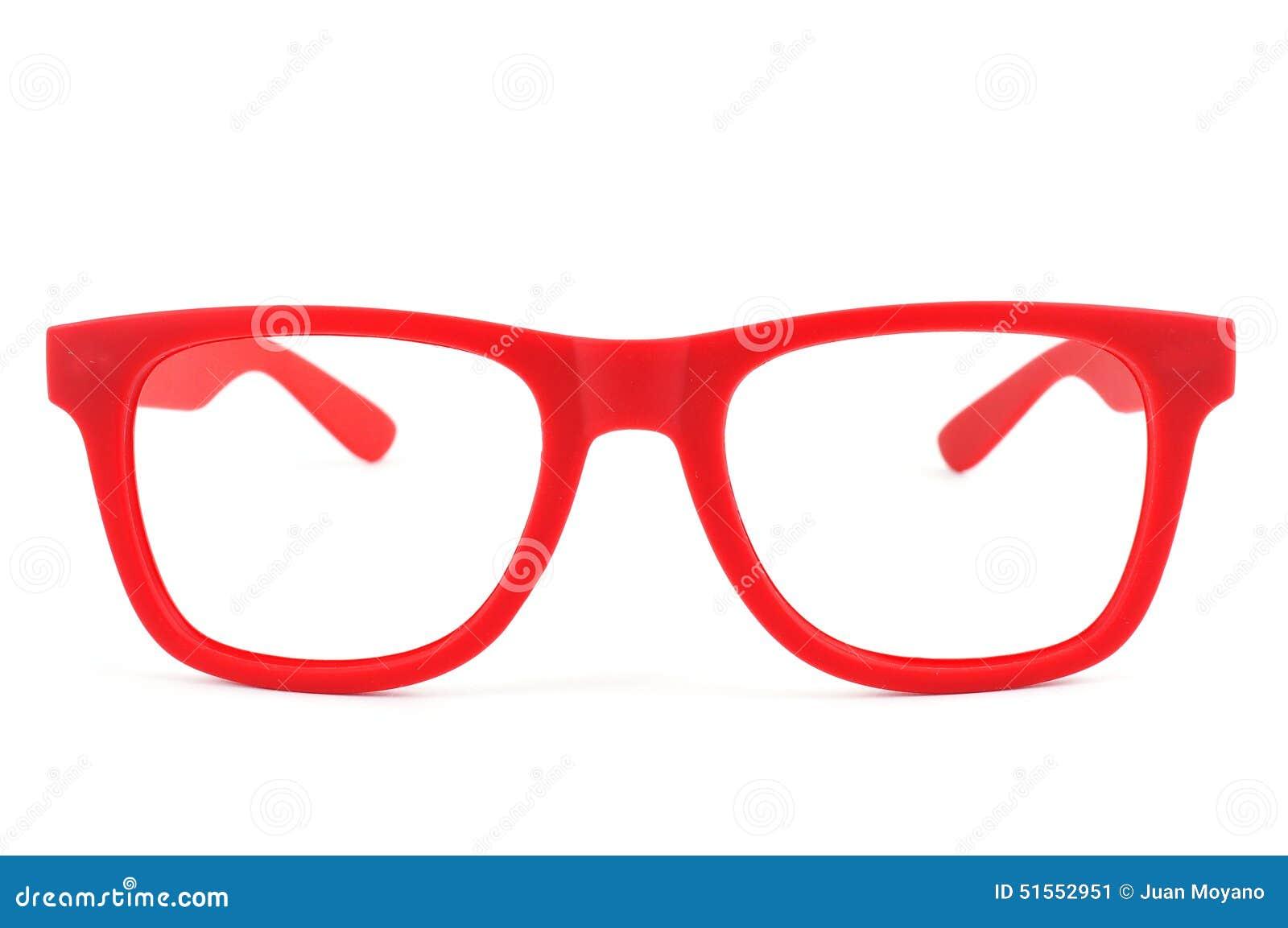 680c1048fd7827 Lunettes rouges image stock. Image du distance, optométriste - 51552951