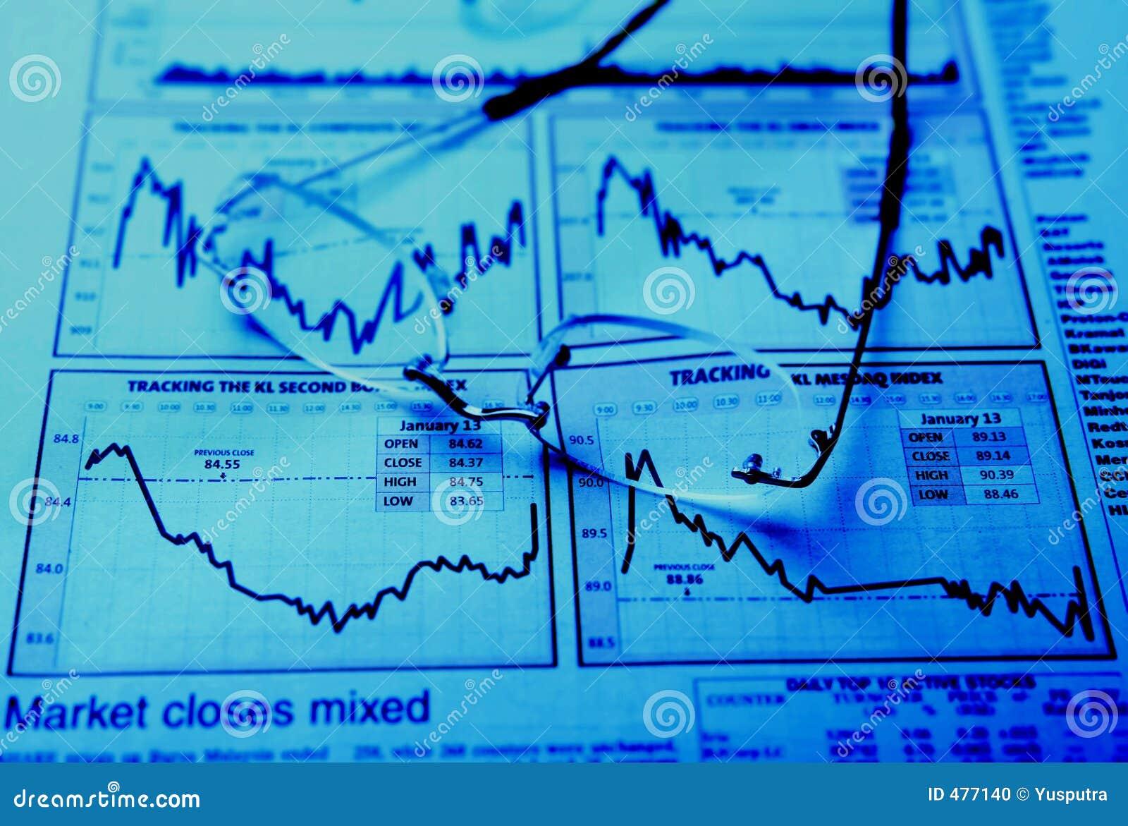 Lunettes sur le diagramme de stocks