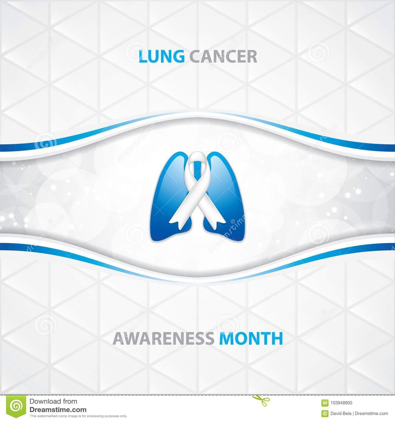 Lung Cancer Awareness Month Background