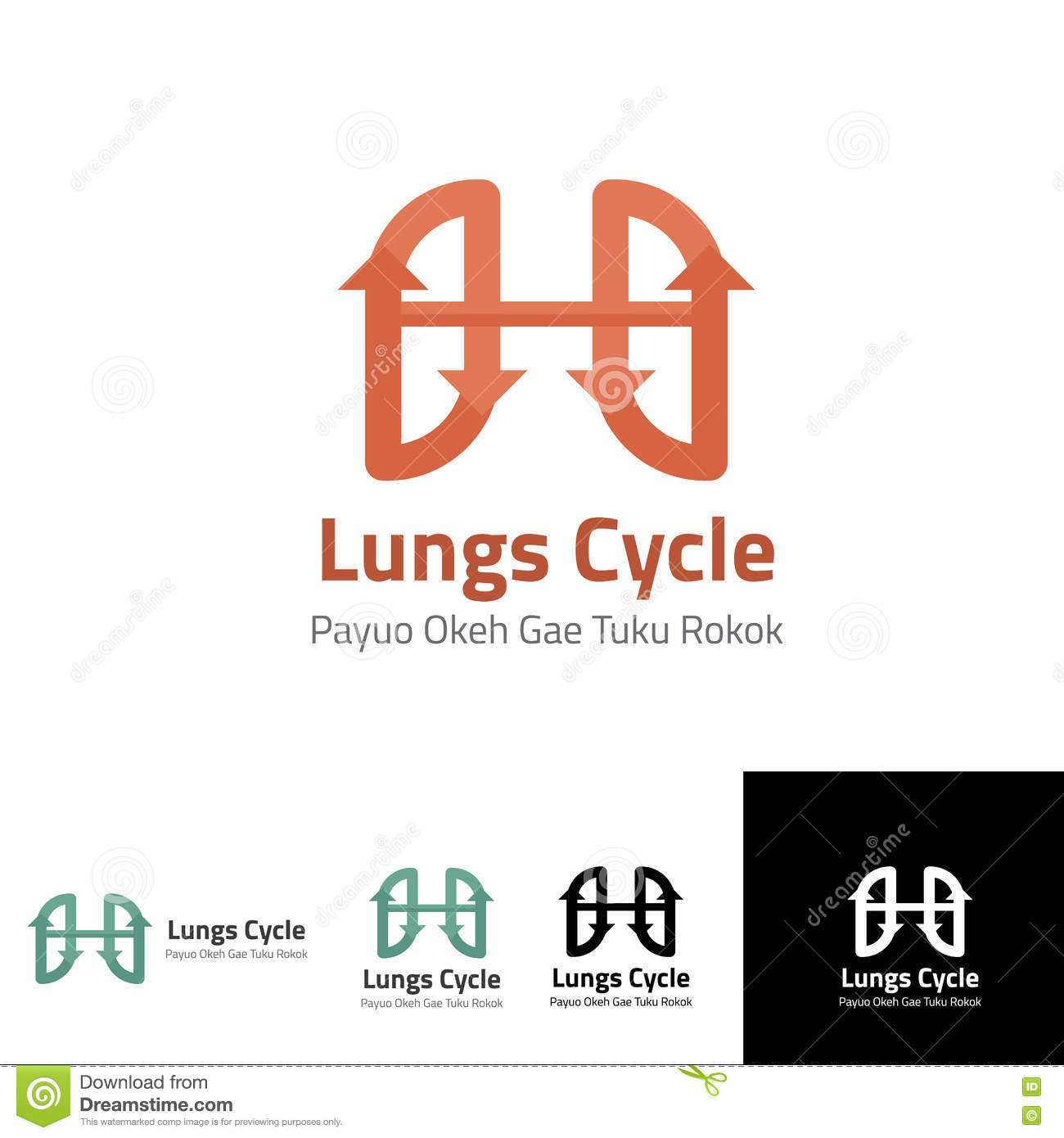 lung cycle logo template for health lungs stock vector - image, Powerpoint templates