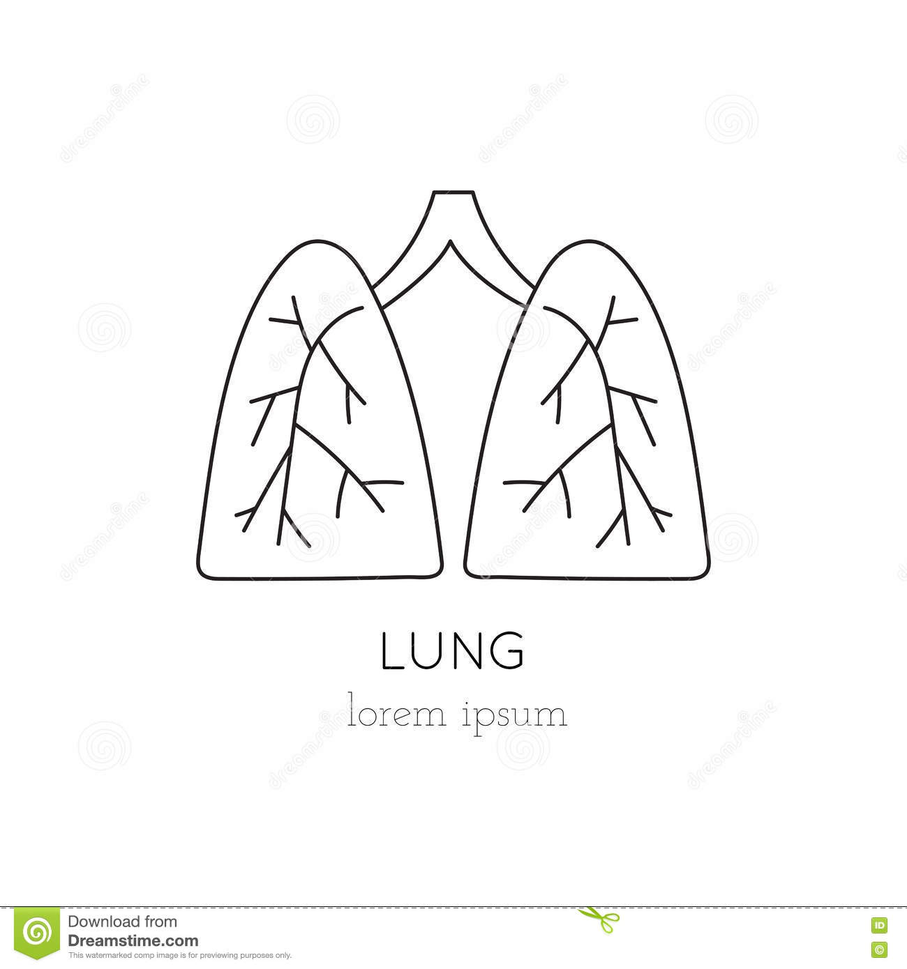 lung line icon stock vector. image of april, care, hospital - 80931916, Powerpoint templates