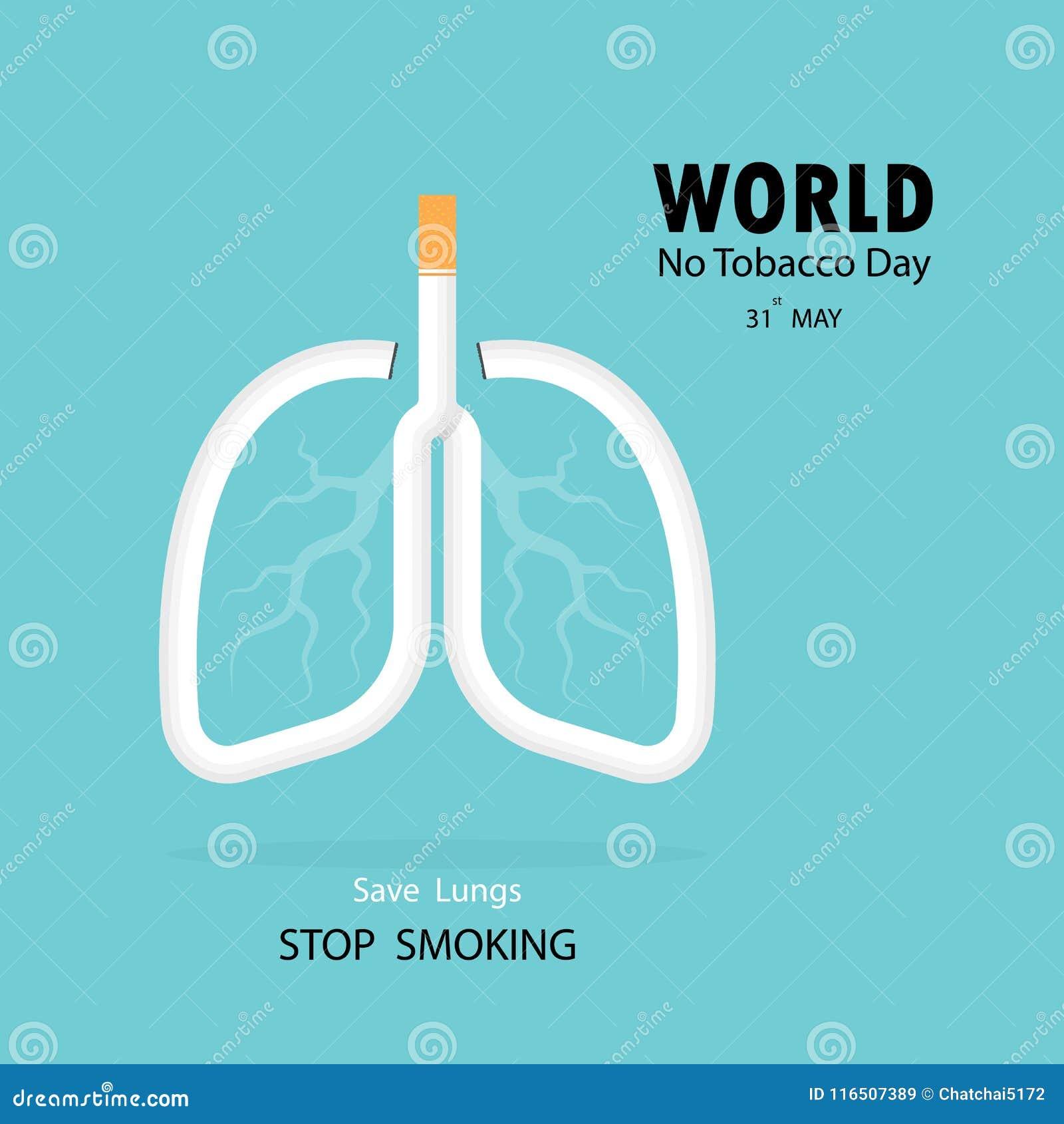 Lunga- och cigarettsymbolen med stoppet som röker vektorlogo, planlägger tem