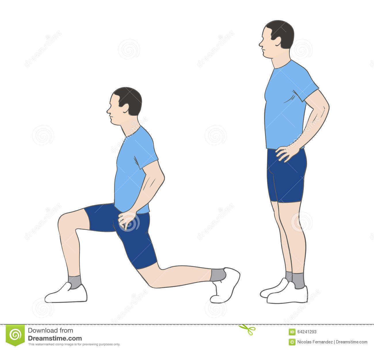 Lunges stock illustration. Illustration of attractive ...
