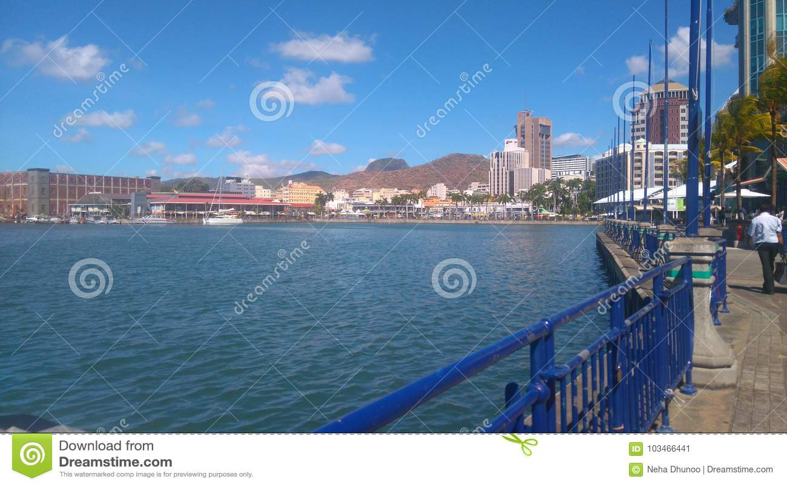 Lungomare di Caudan & x28; Mauritius& x29;