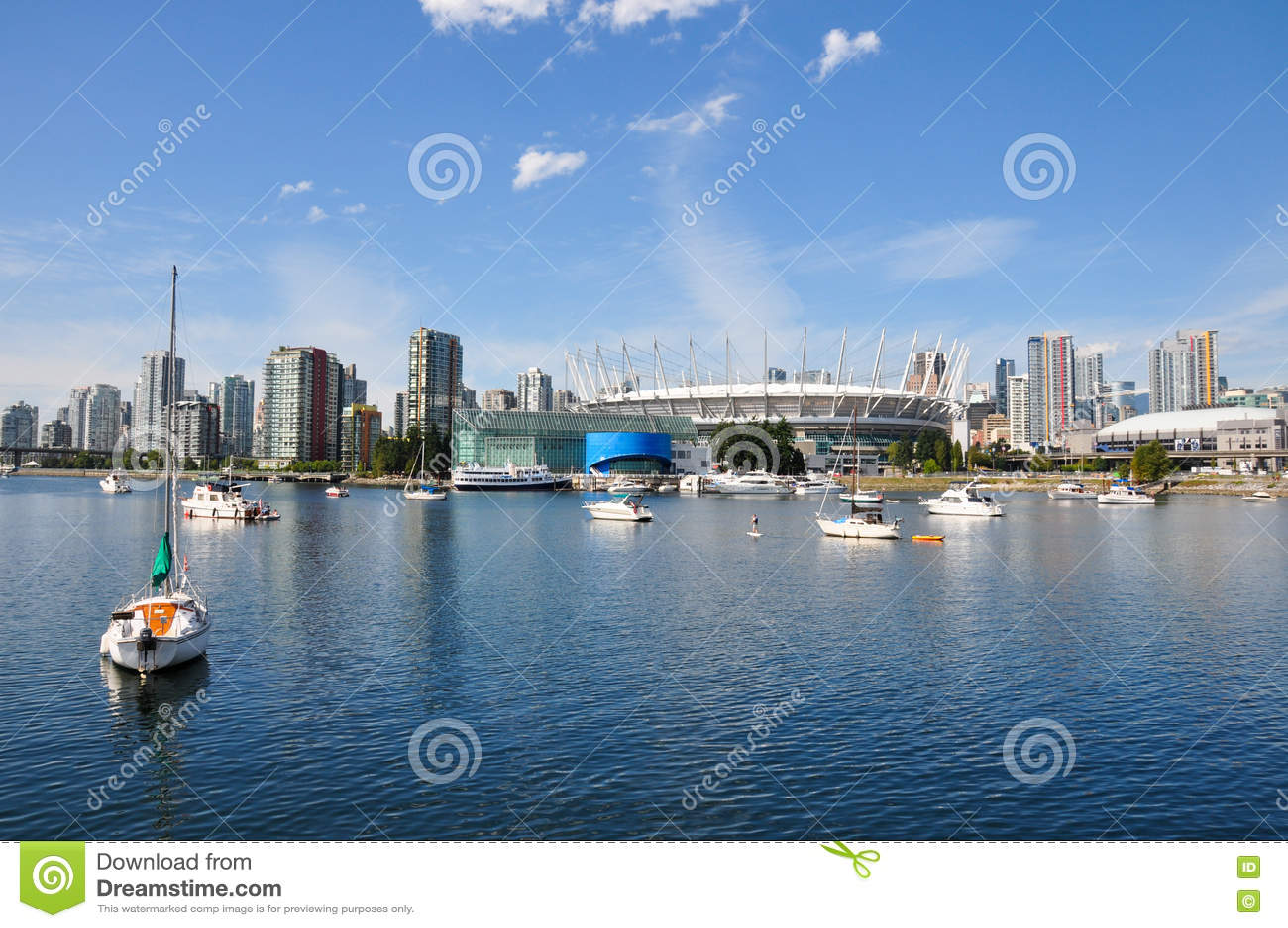 Lungomare a Vancouver, Columbia Britannica, Canada