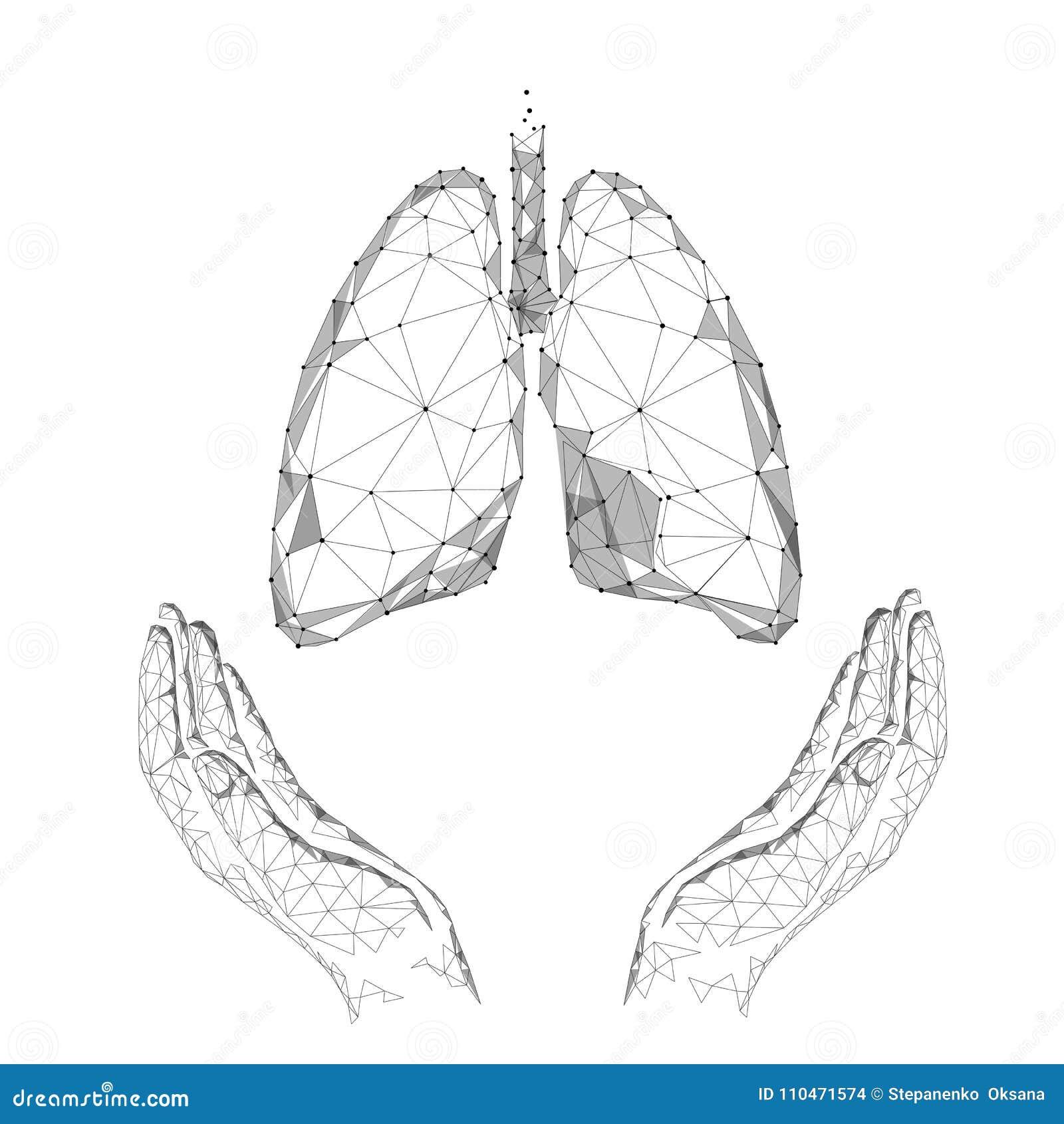 Lungor för affisch för dag för världstuberkulos mänskliga i handvitbakgrund Mitt för medicin för tbcmedvetenhethälsovård läkarund