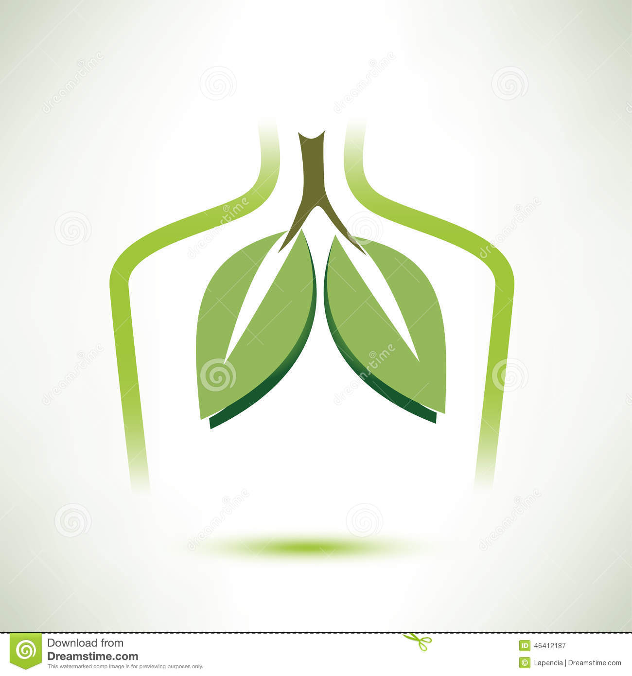 Lungs Isolated Vector Symbol Stylized Icon Stock Vector ...