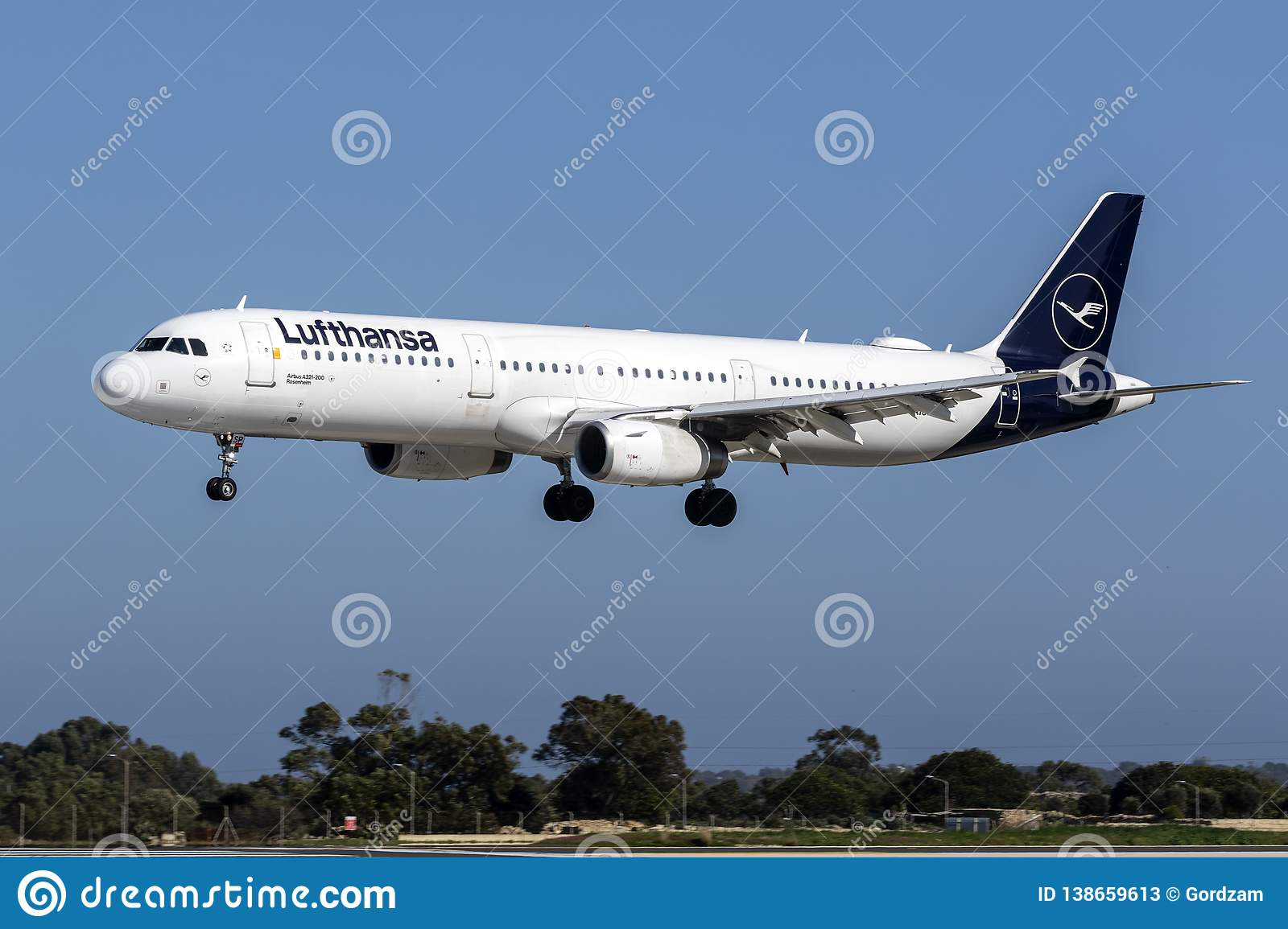 Lufthansa new livery A321 editorial stock photo  Image of