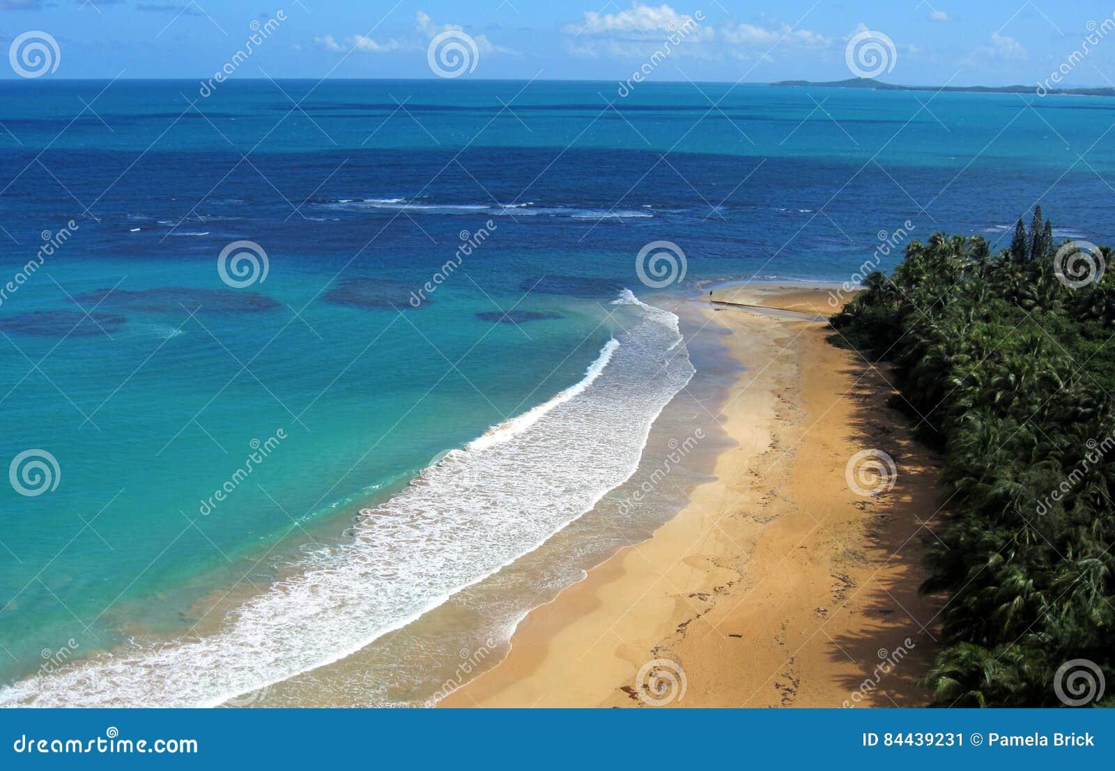 Luquillo海滩,波多黎各