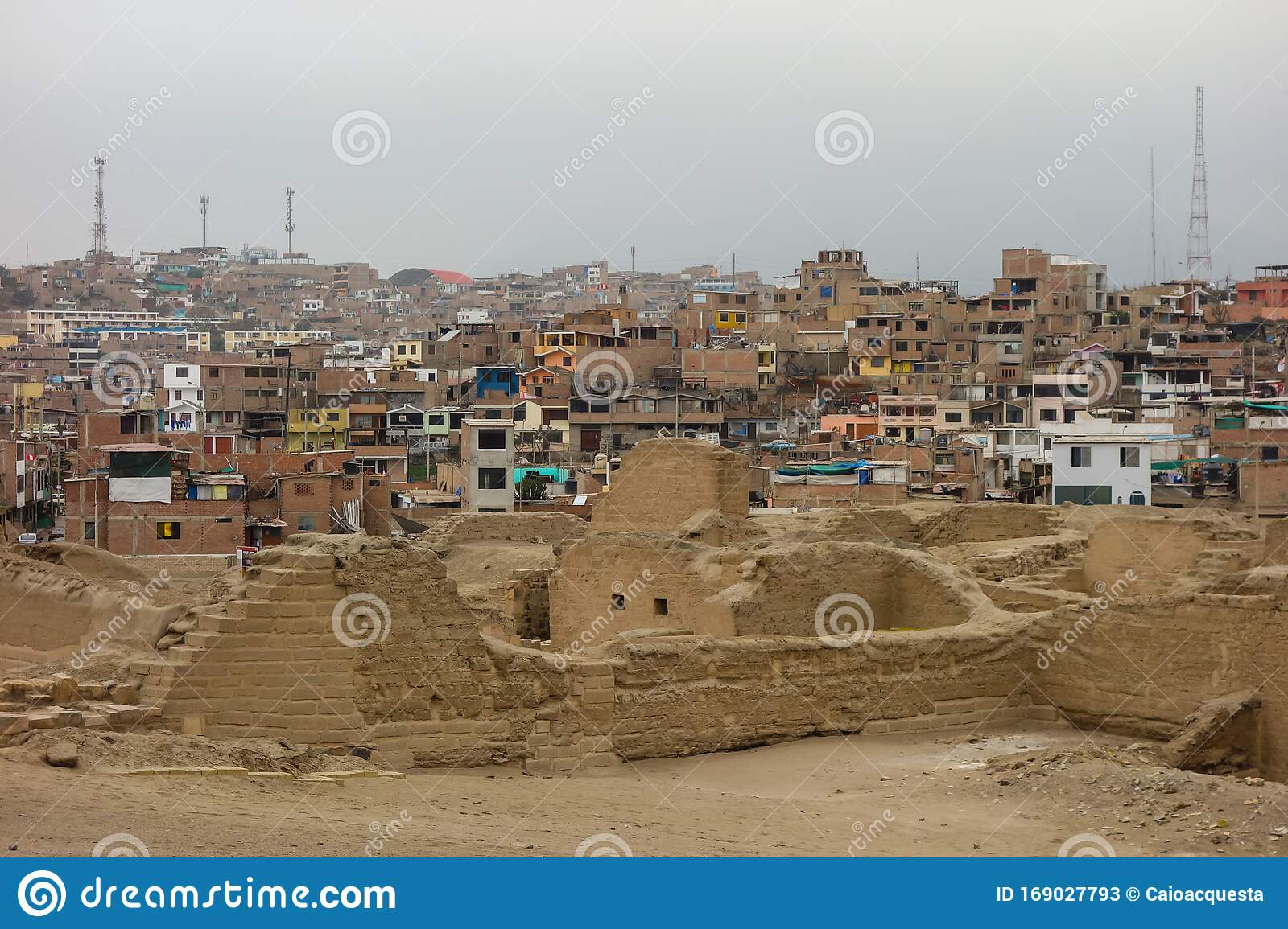 Lurin Lima Peru Sep 24 19 Pachacamac Archaeological Site Ruins City On Back Editorial Stock Photo Image Of Heritage Brick 169027793