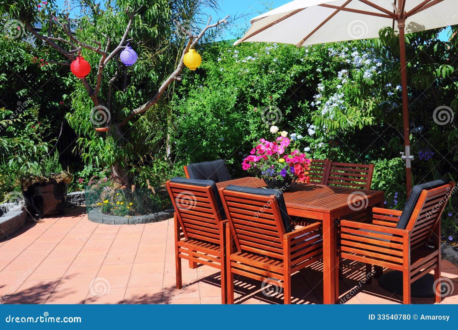 Lush summer courtyard garden close up on entertaining for Beautiful courtyard gardens