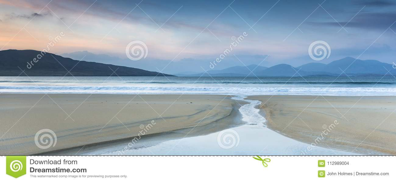 Luskentyre beach on the Isle of Harris in Scotland.