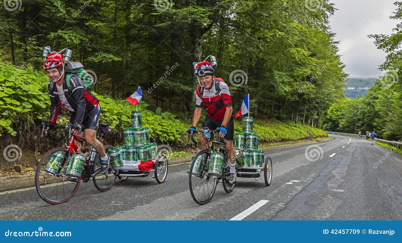 Lustige Amateurradfahrer