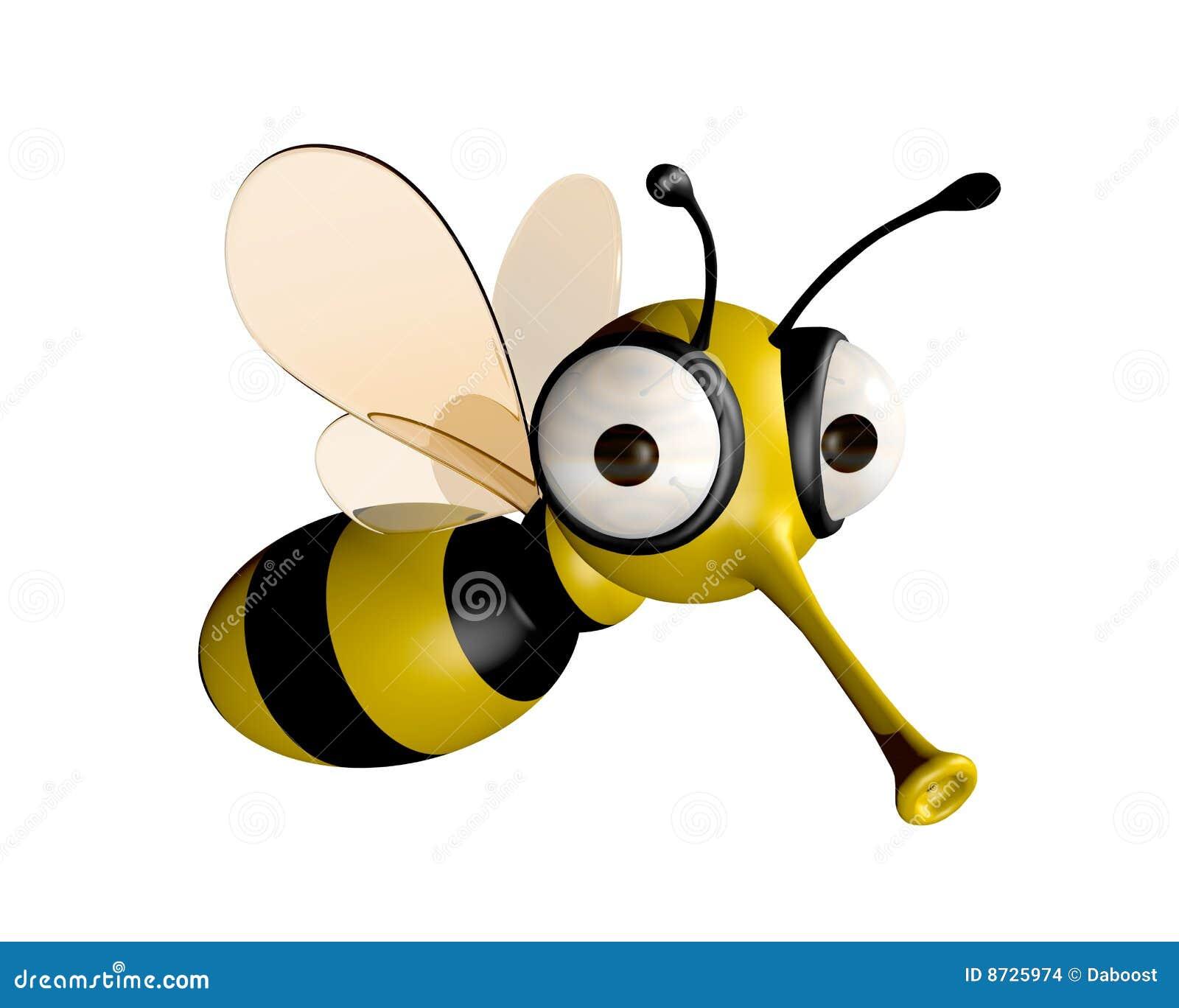 Lustige Biene stock abbildung. Illustration von schwarzes ...