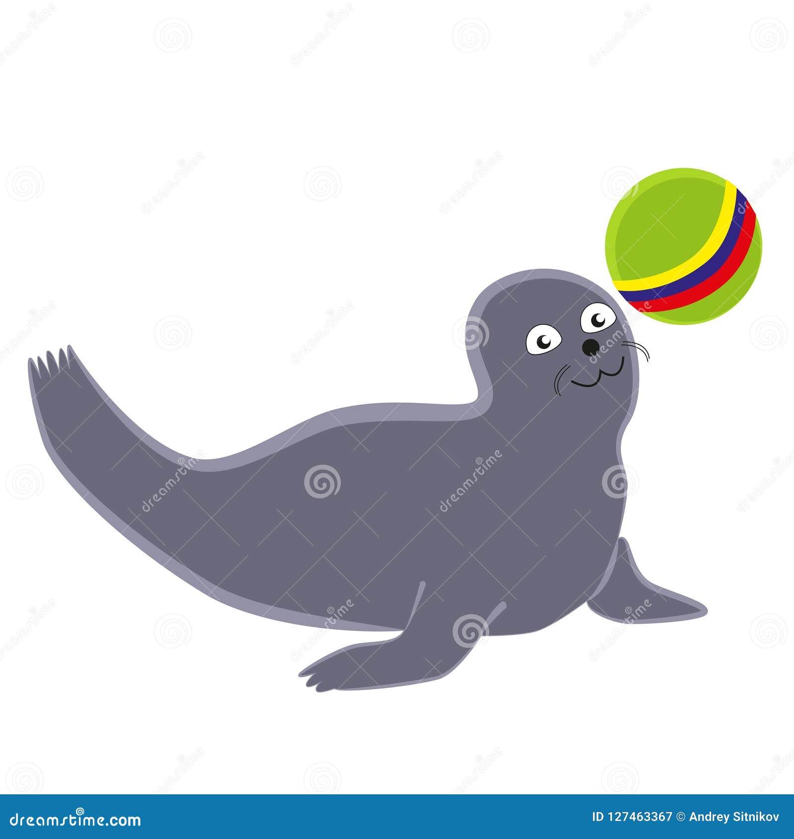 Lustige Dichtung, die mit einem Ball spielt