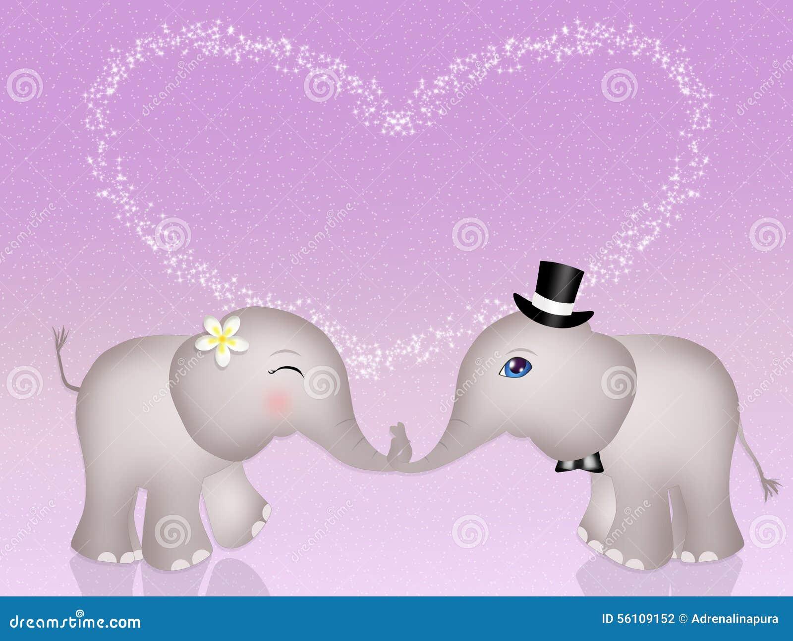 lustige elefanten in der liebe stock abbildung illustration von valentine karikatur 56109152. Black Bedroom Furniture Sets. Home Design Ideas