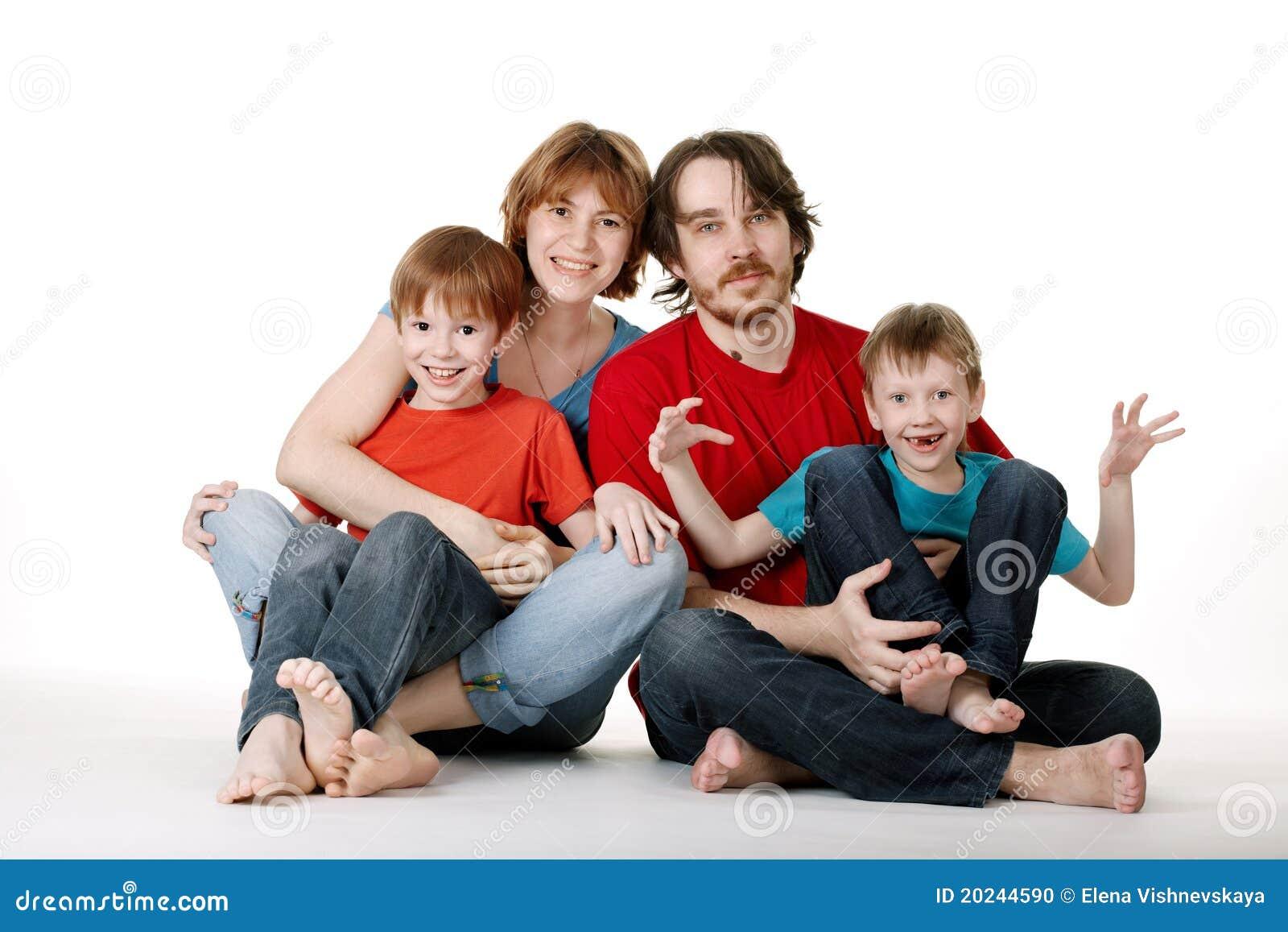 lustige familie stockfoto bild 20244590. Black Bedroom Furniture Sets. Home Design Ideas