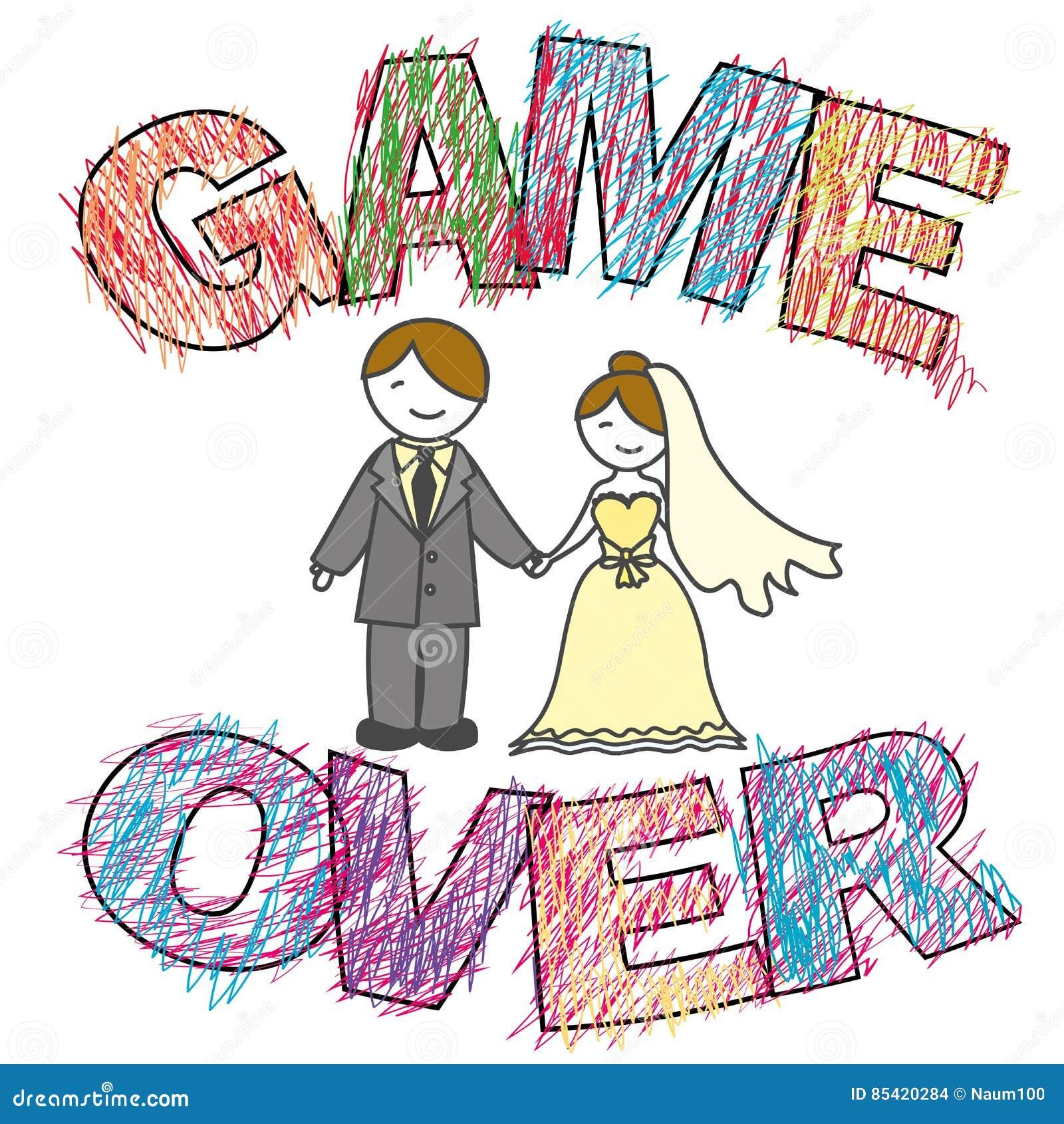 Lustige Hochzeit Spiel Vorbei Vektor Abbildung Illustration Von