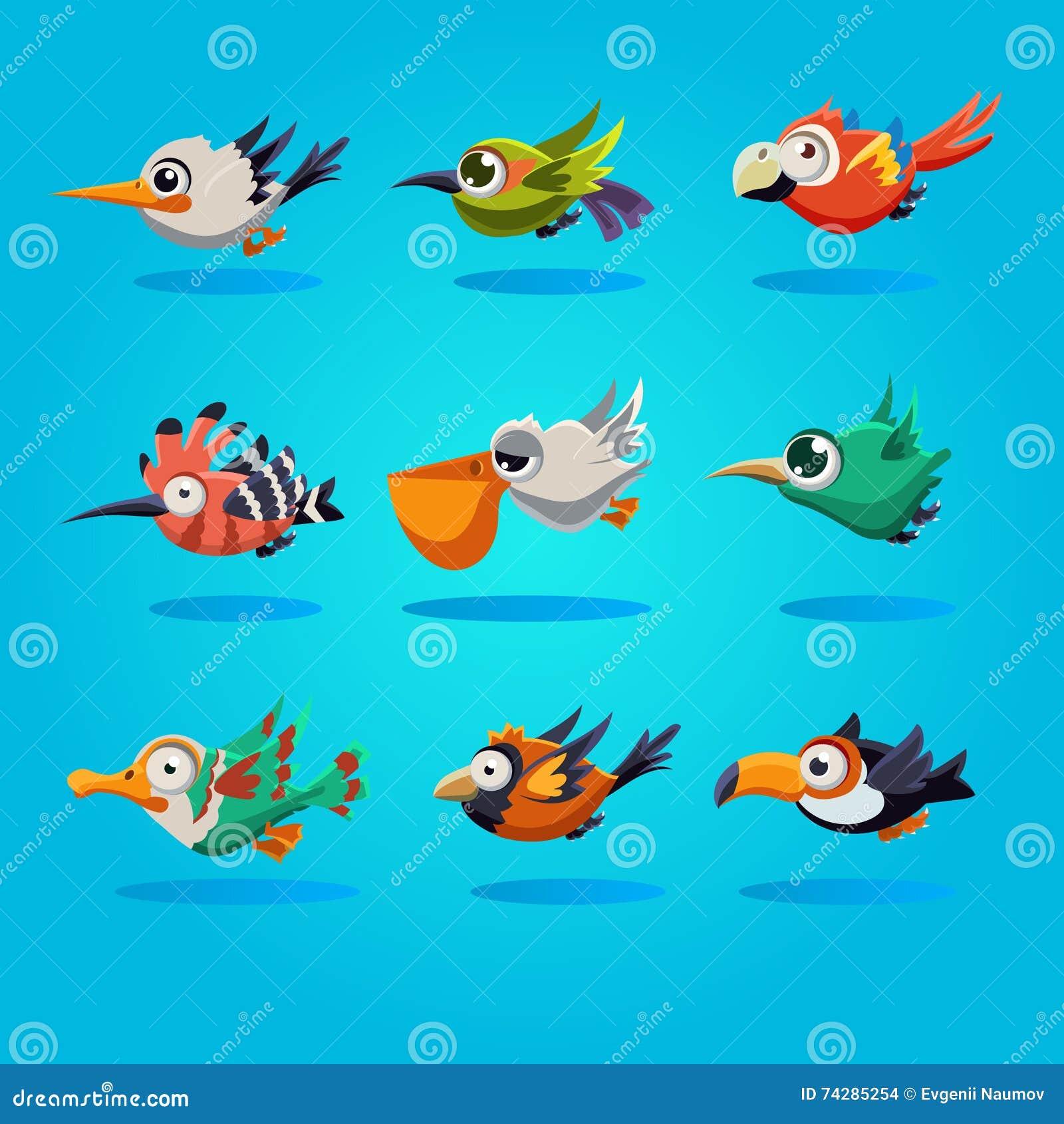 Lustige Karikatur Vogel Illustration Stock Abbildung Illustration
