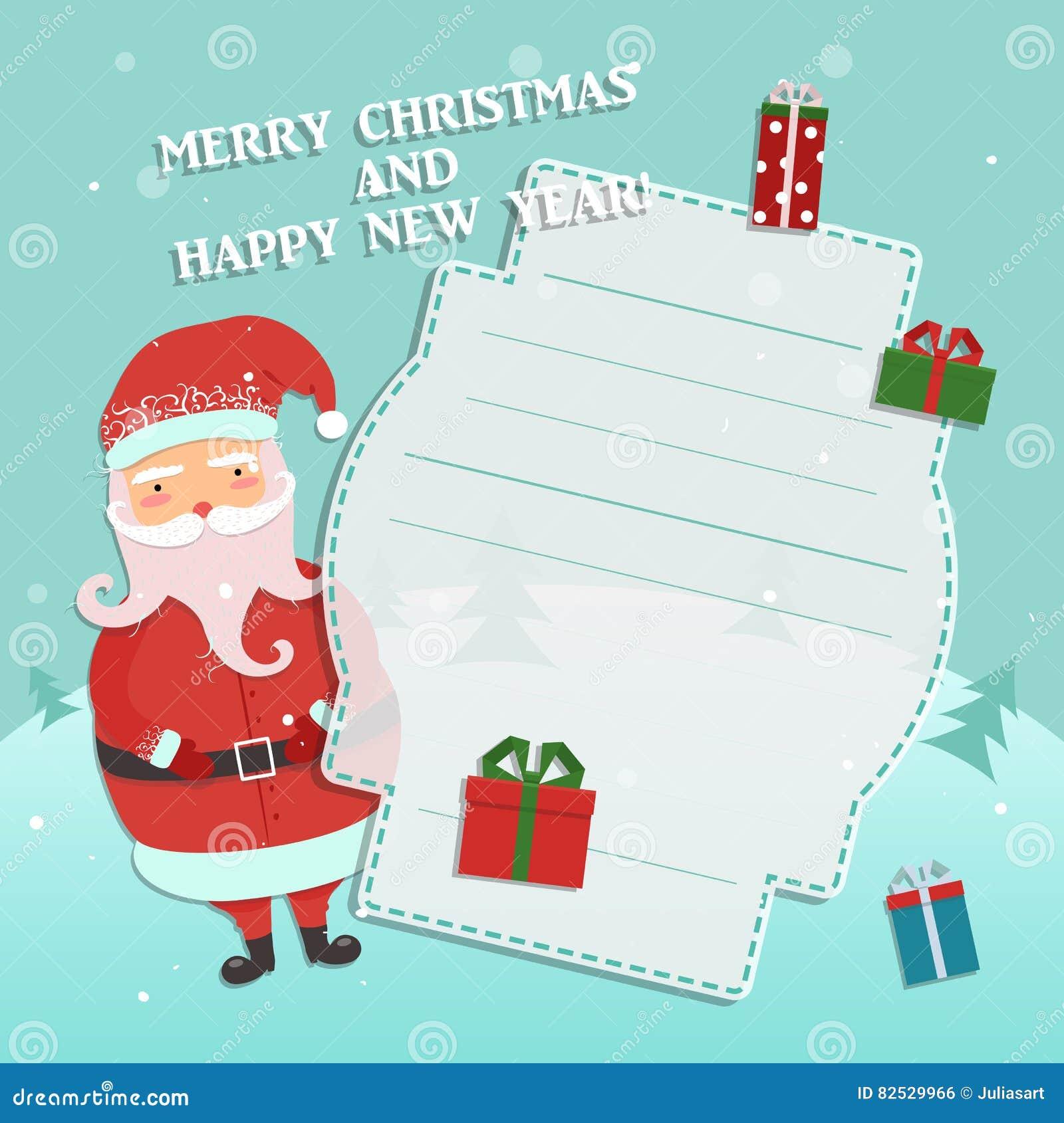 Weihnachten Bilder Bearbeiten.Lustige Karikatur Weihnachtsmann Winterwaldhintergrund Weihnachten