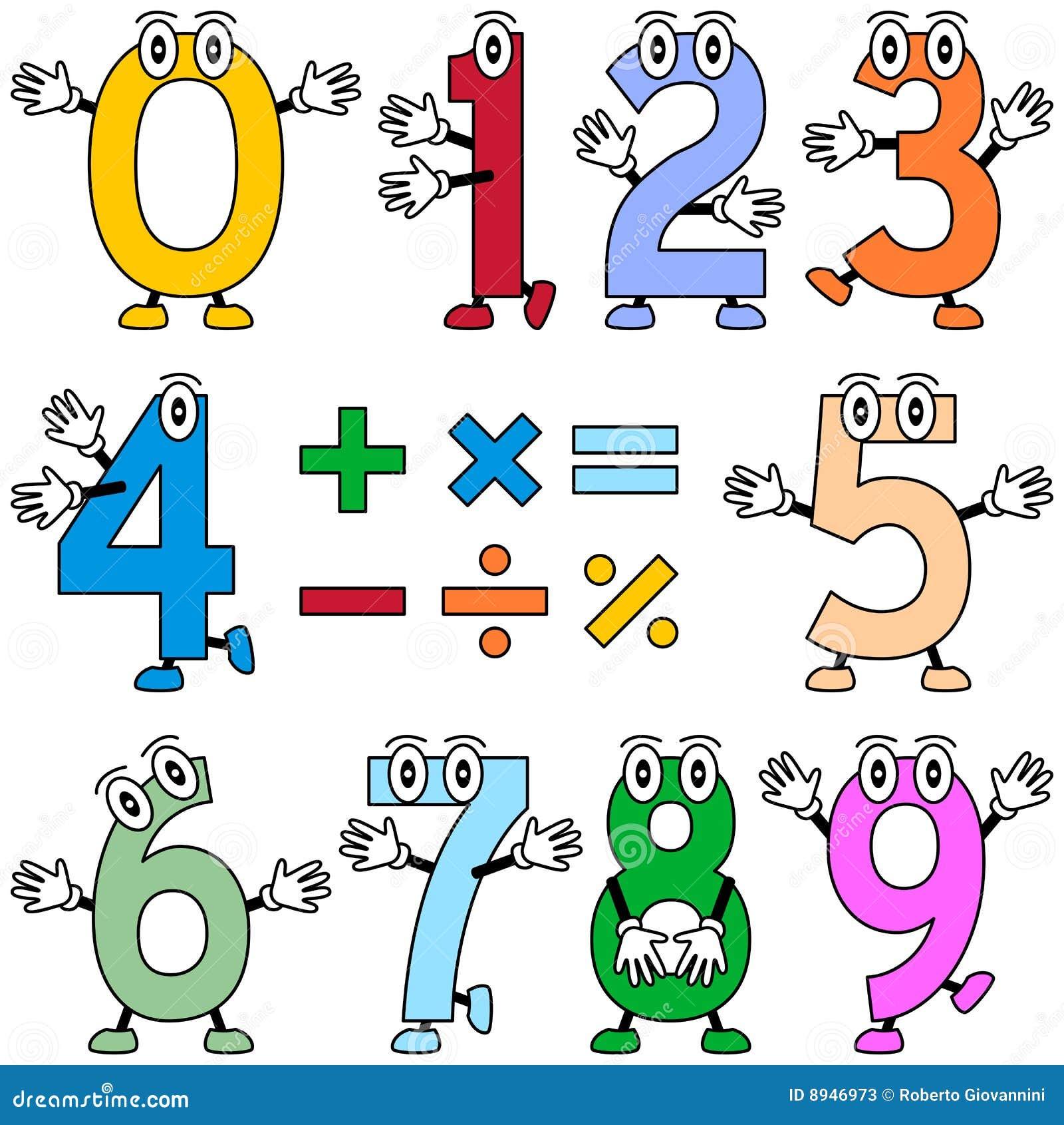 Lustige Karikatur-Zahlen