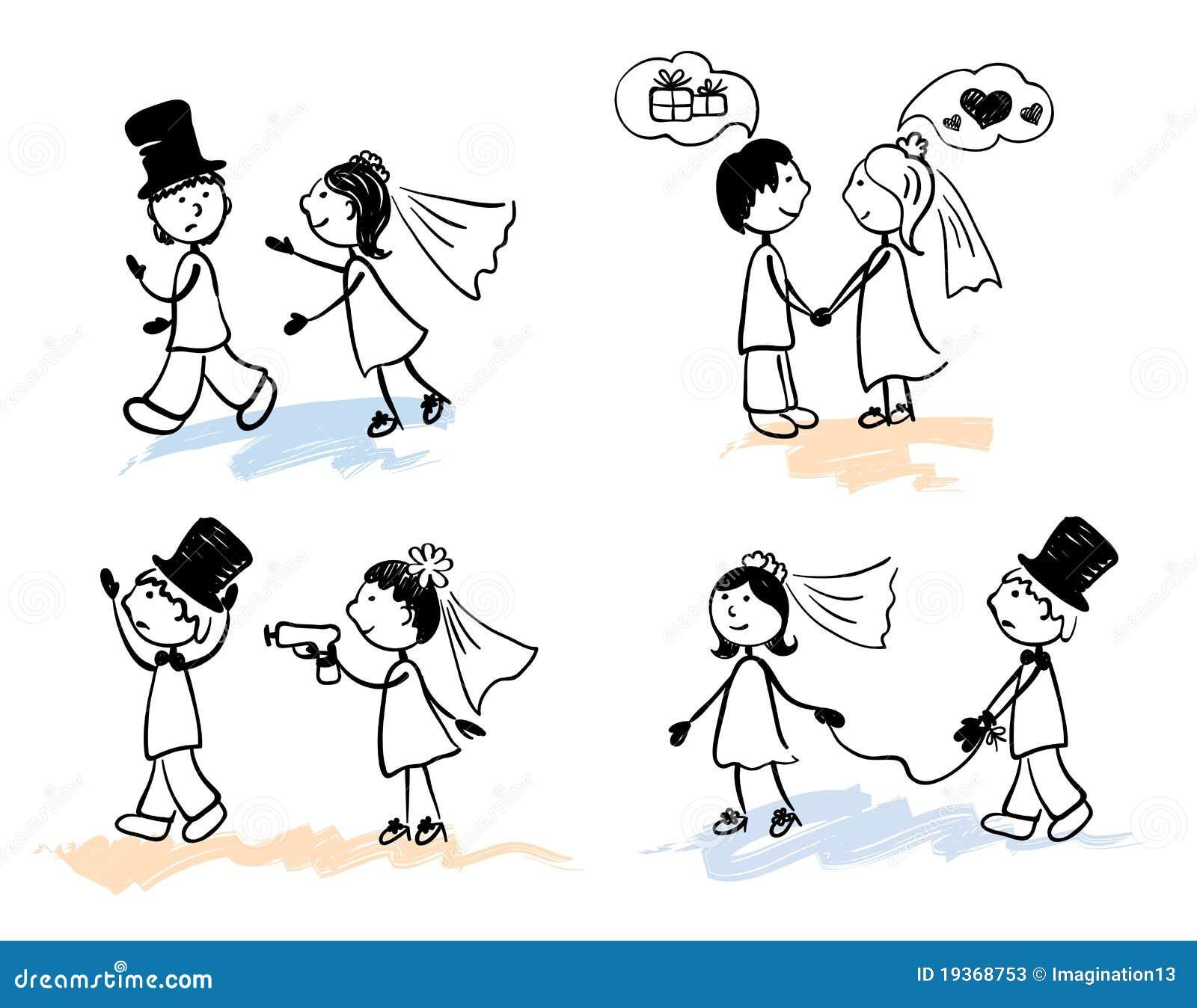 Hochzeit Lustiges: Hochzeit Stockfotos