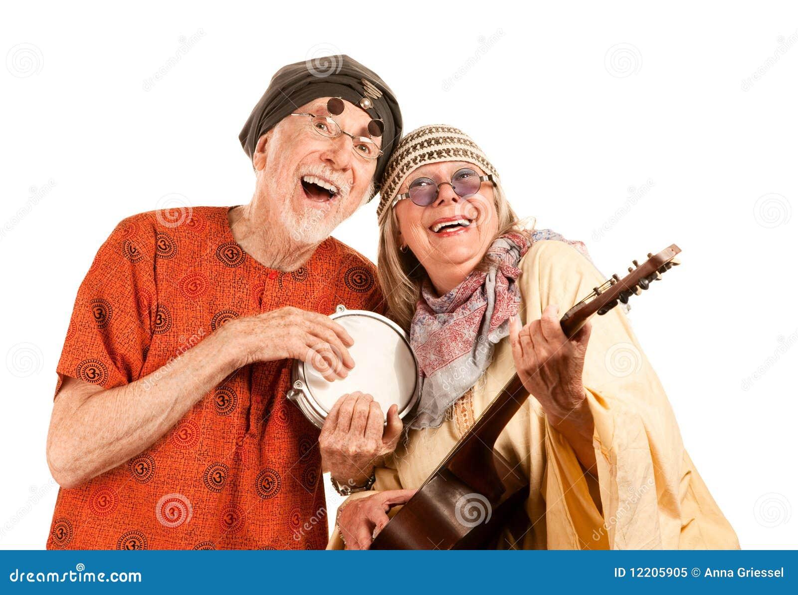 Lustige neue Alters-Paare