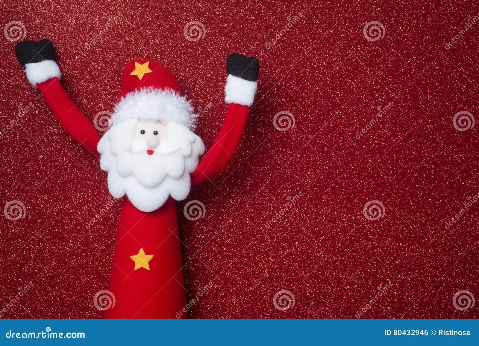 Lustige Santa Claus Christmas-Karte Copyspace Stockfoto - Bild von ...