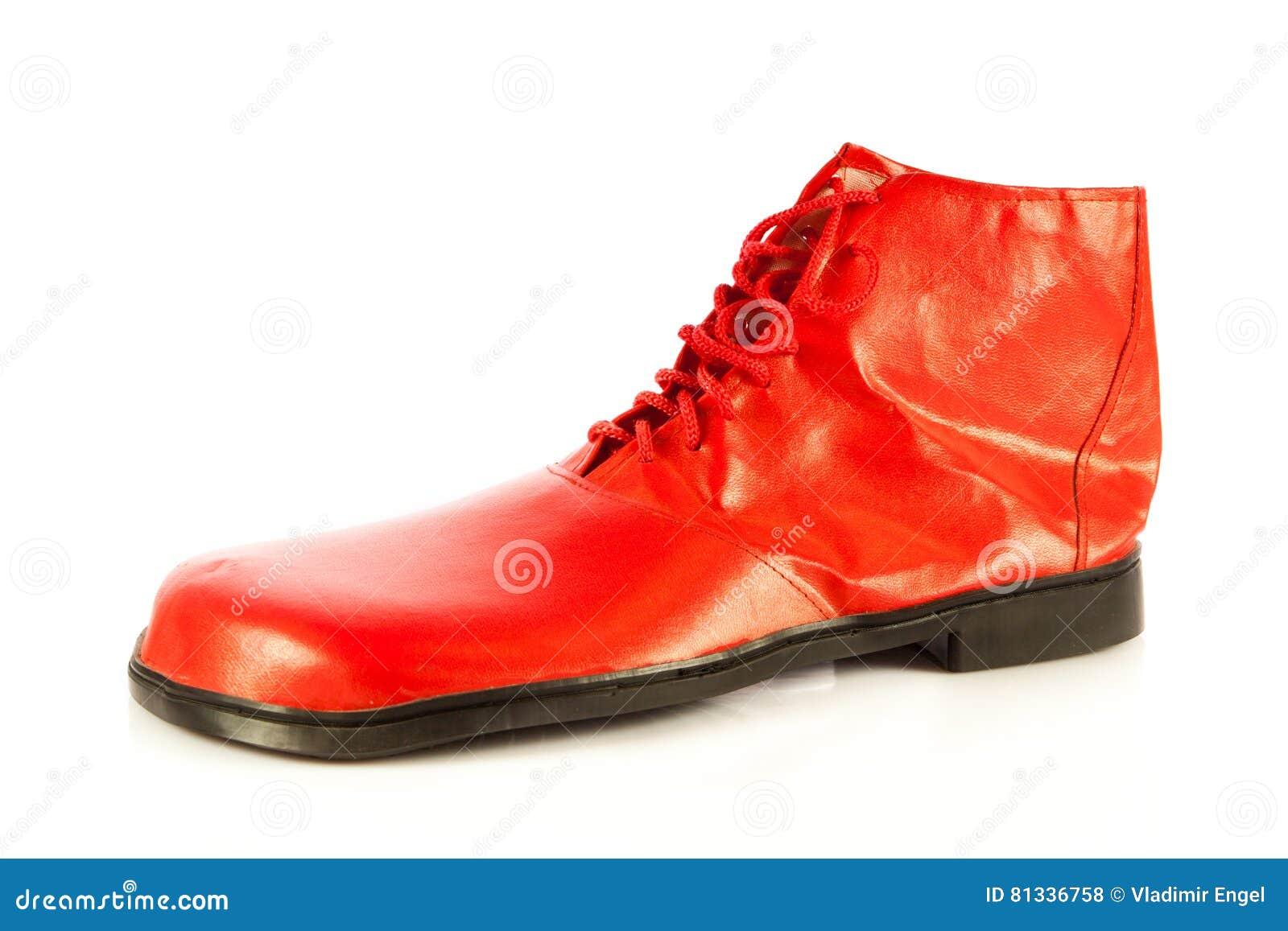 Lustige Schuhe Auf Weissem Hintergrund Stockfoto Bild Von Dumm