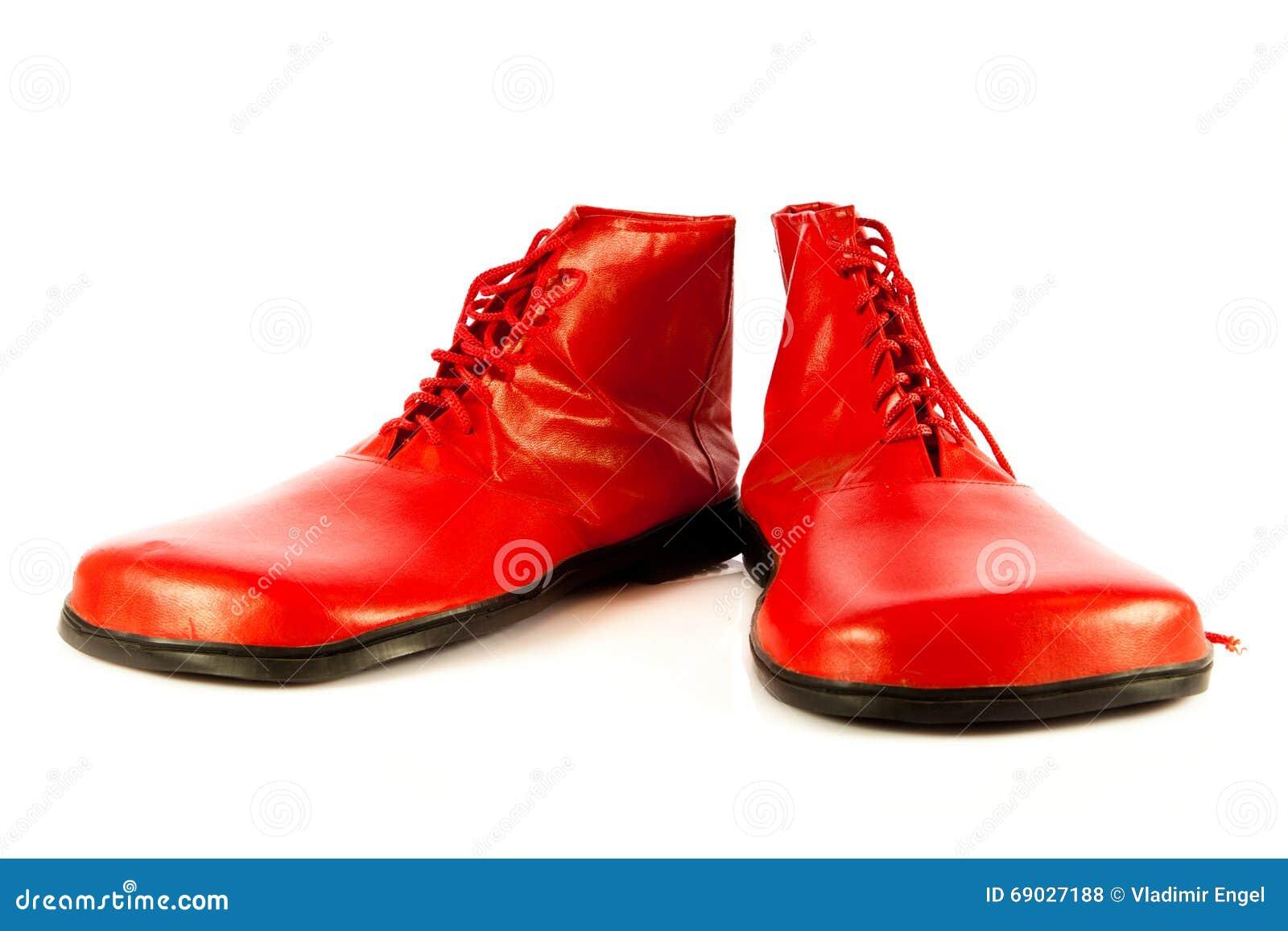 Lustige Schuhe Lokalisiert Auf Weissem Hintergrund Stockfoto Bild