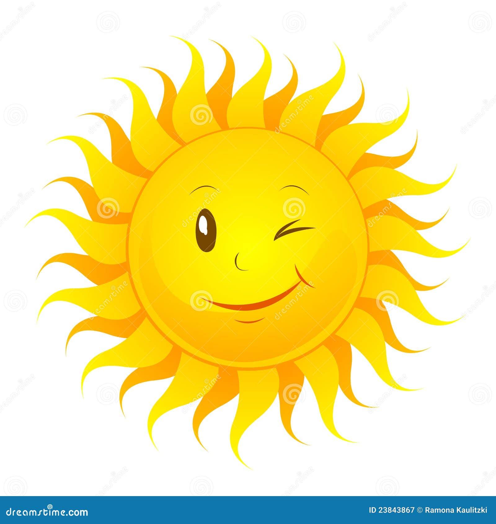 Lustige Sonne stock abbildung. Illustration von sonne