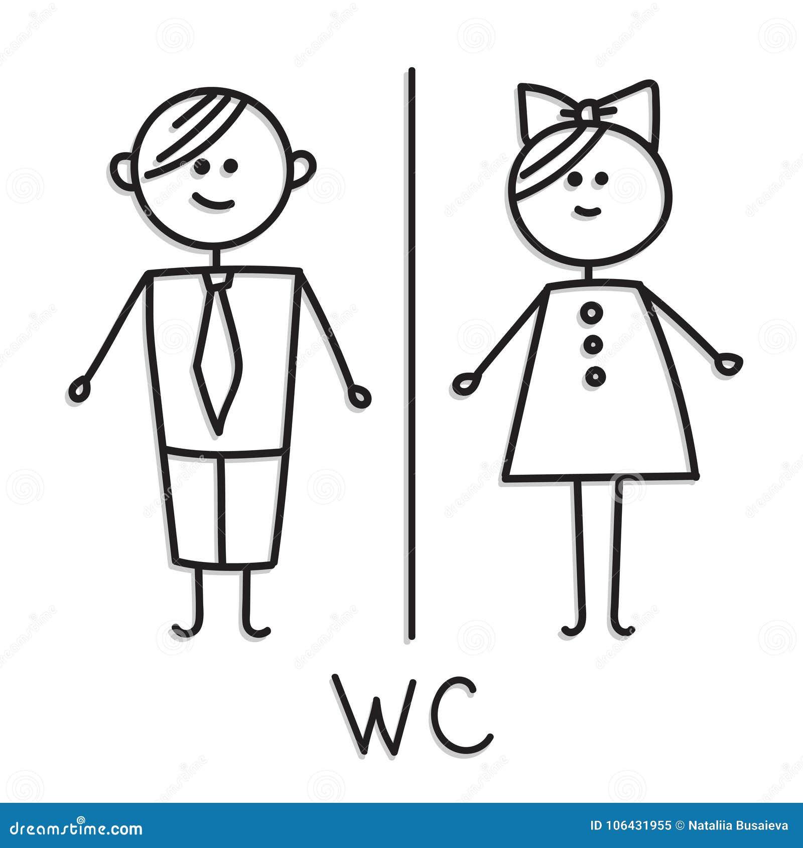 lustige wc t rschildsymbole symbol des mannes frau junge m dchen oilet t rschildikone herren. Black Bedroom Furniture Sets. Home Design Ideas