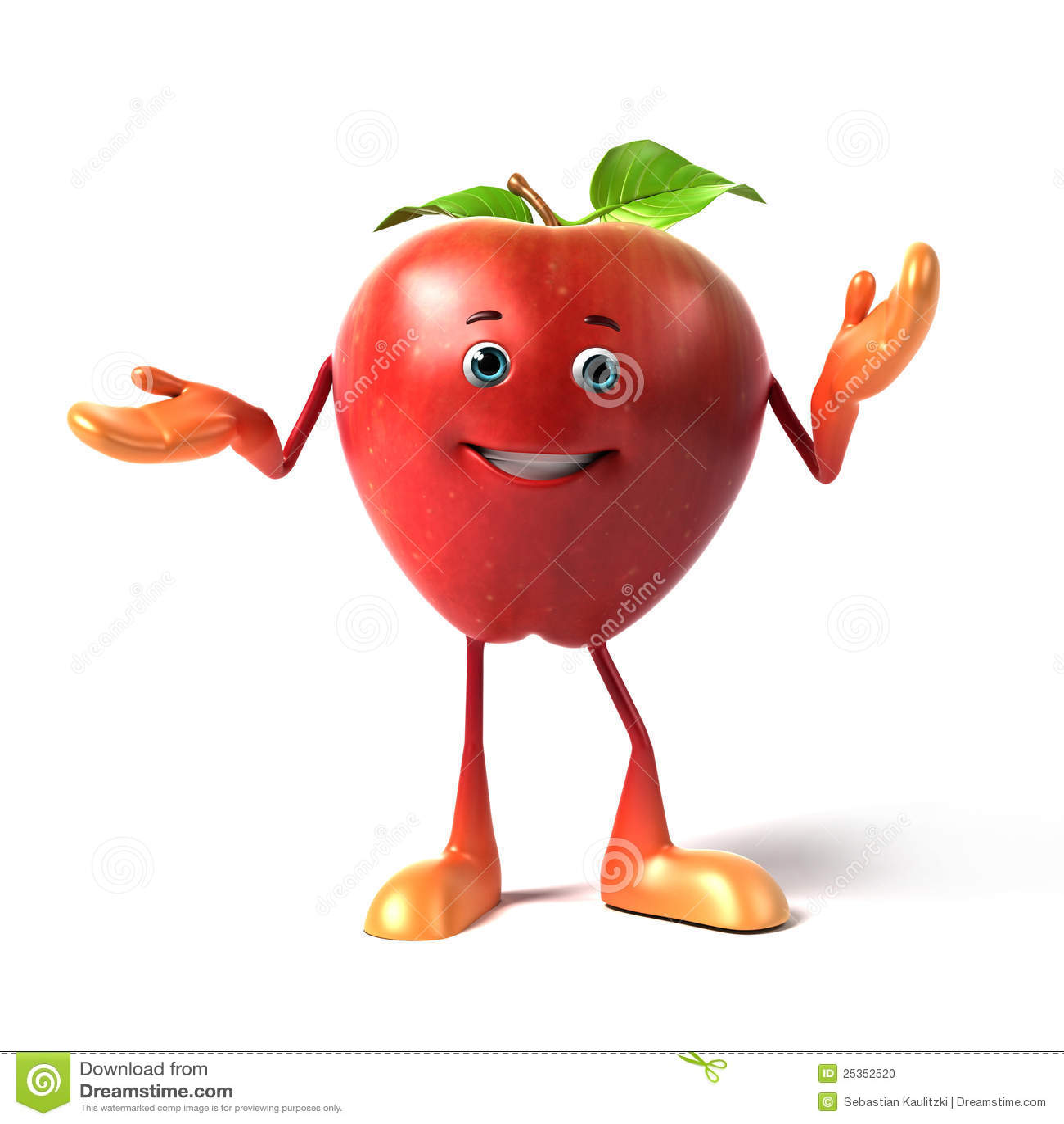 Lustiger Apfel