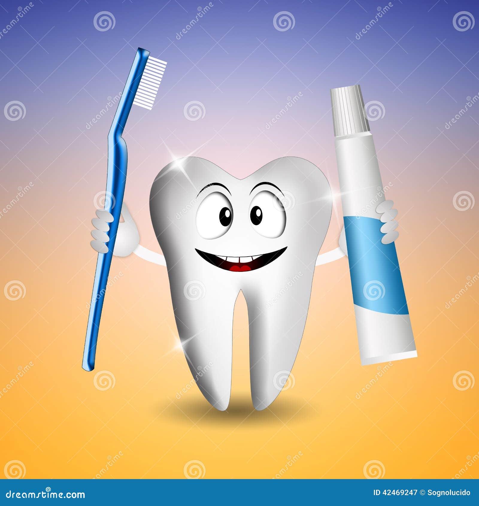 Lustiger Zahn für Zahnarzt