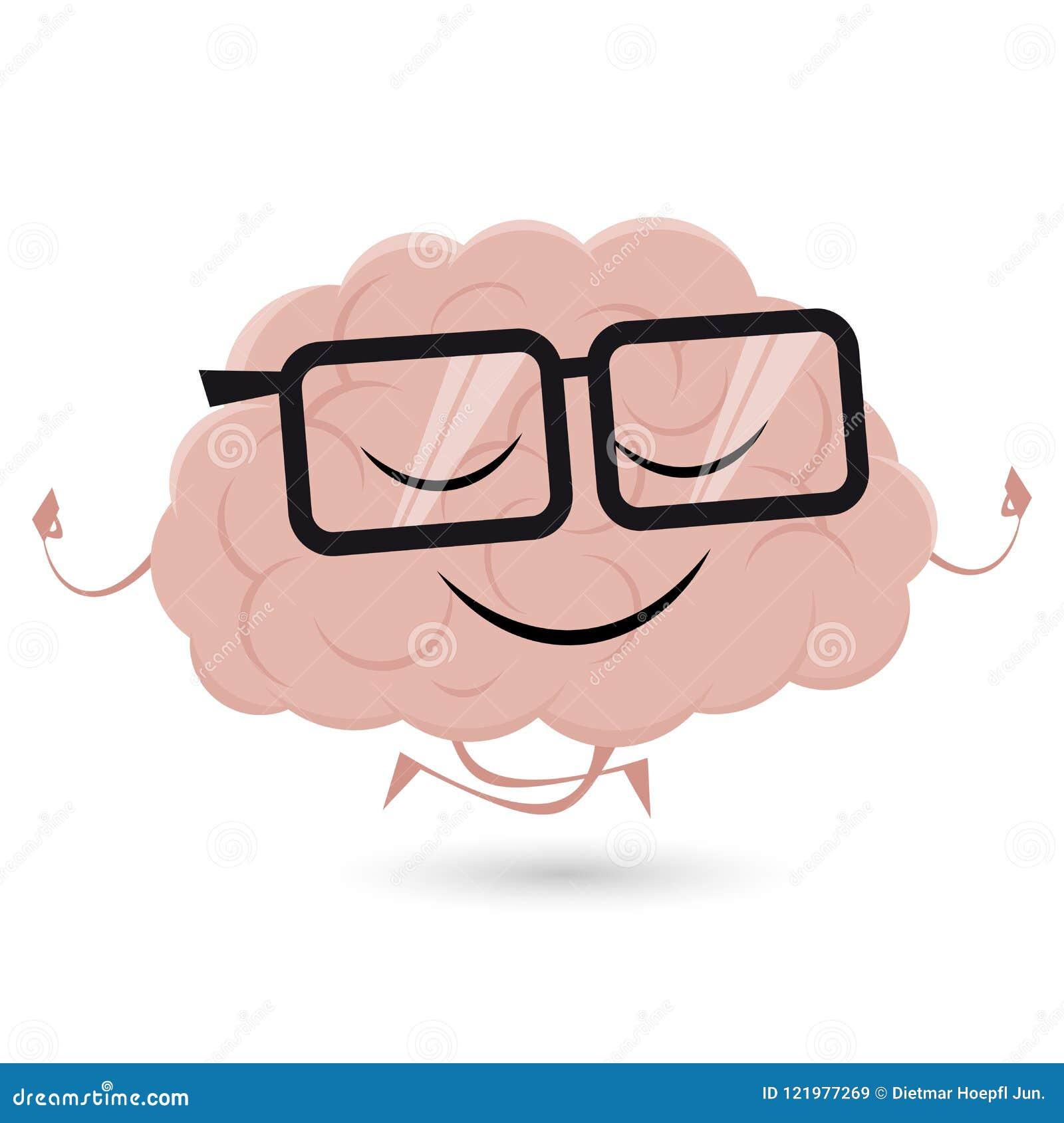 Lustiges Gehirn Tut Yoga Vektor Abbildung Illustration Von Element