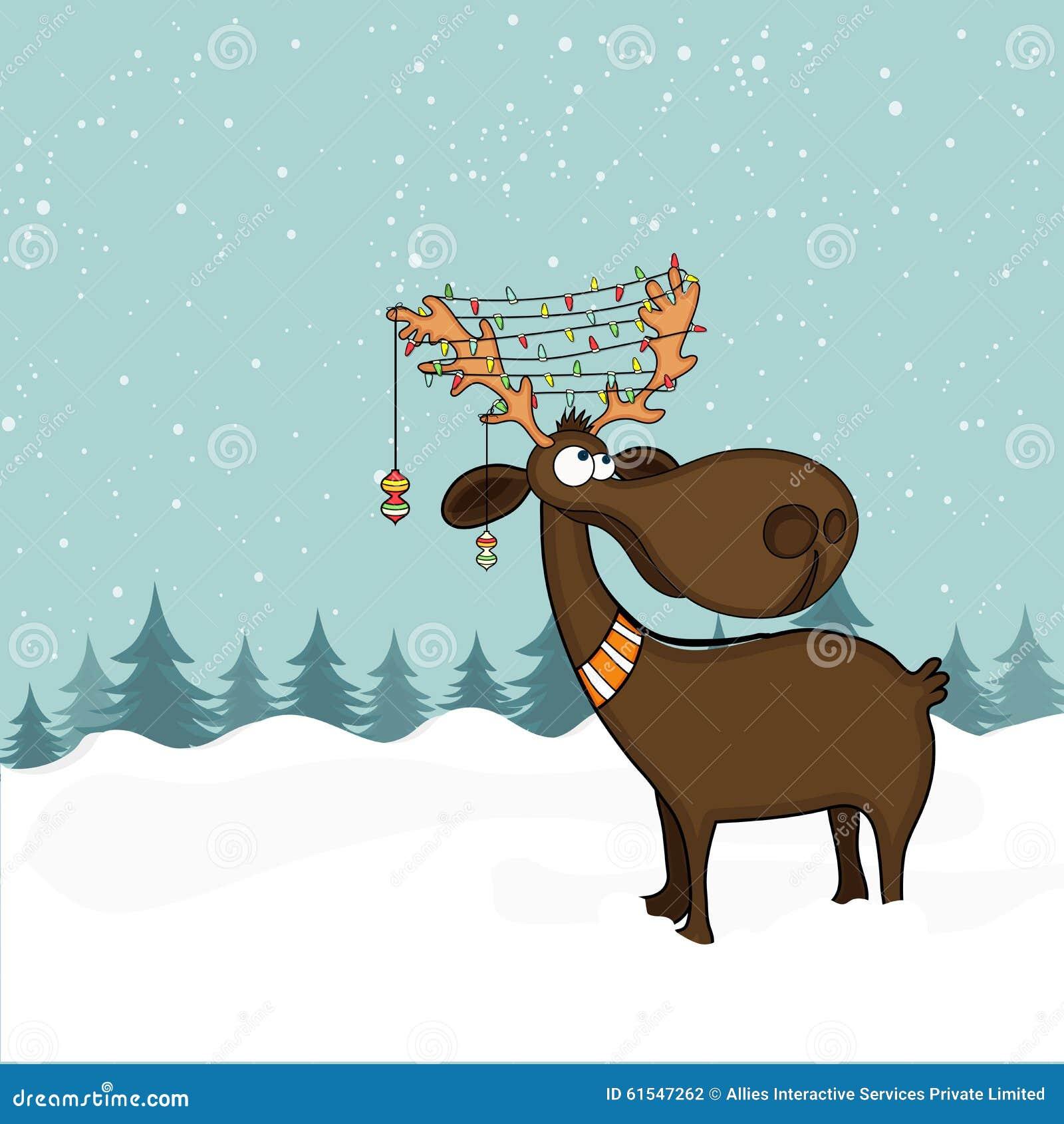 Lustiges Für Weihnachtsfeier.Lustiges Ren Für Weihnachtsfeier Stock Abbildung Illustration Von