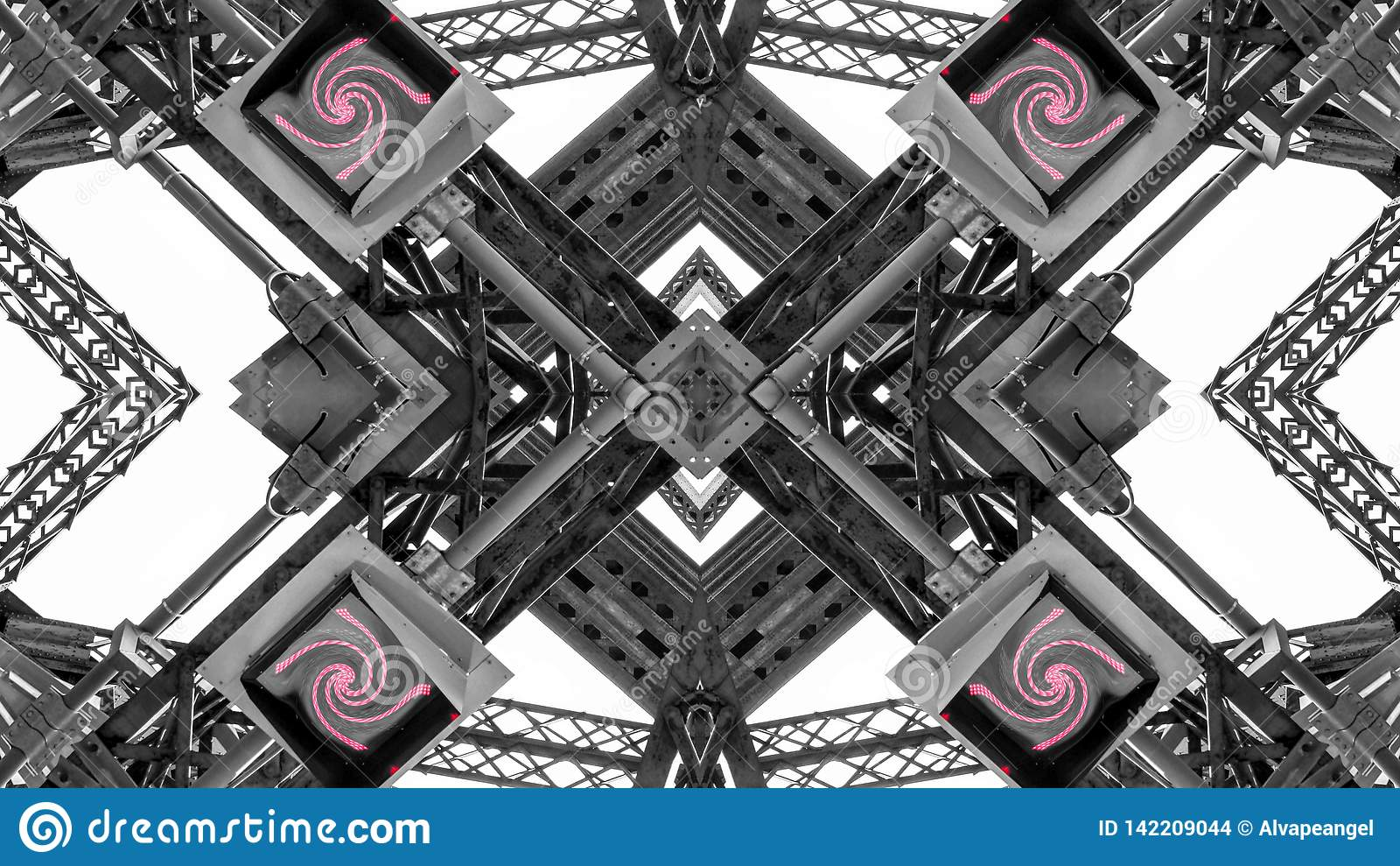 Lustrzany skutek metal struktury