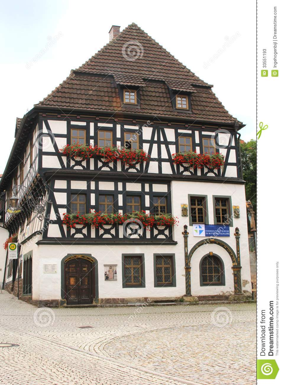 Historic Martin Luther House In Eisenach Germany Stock