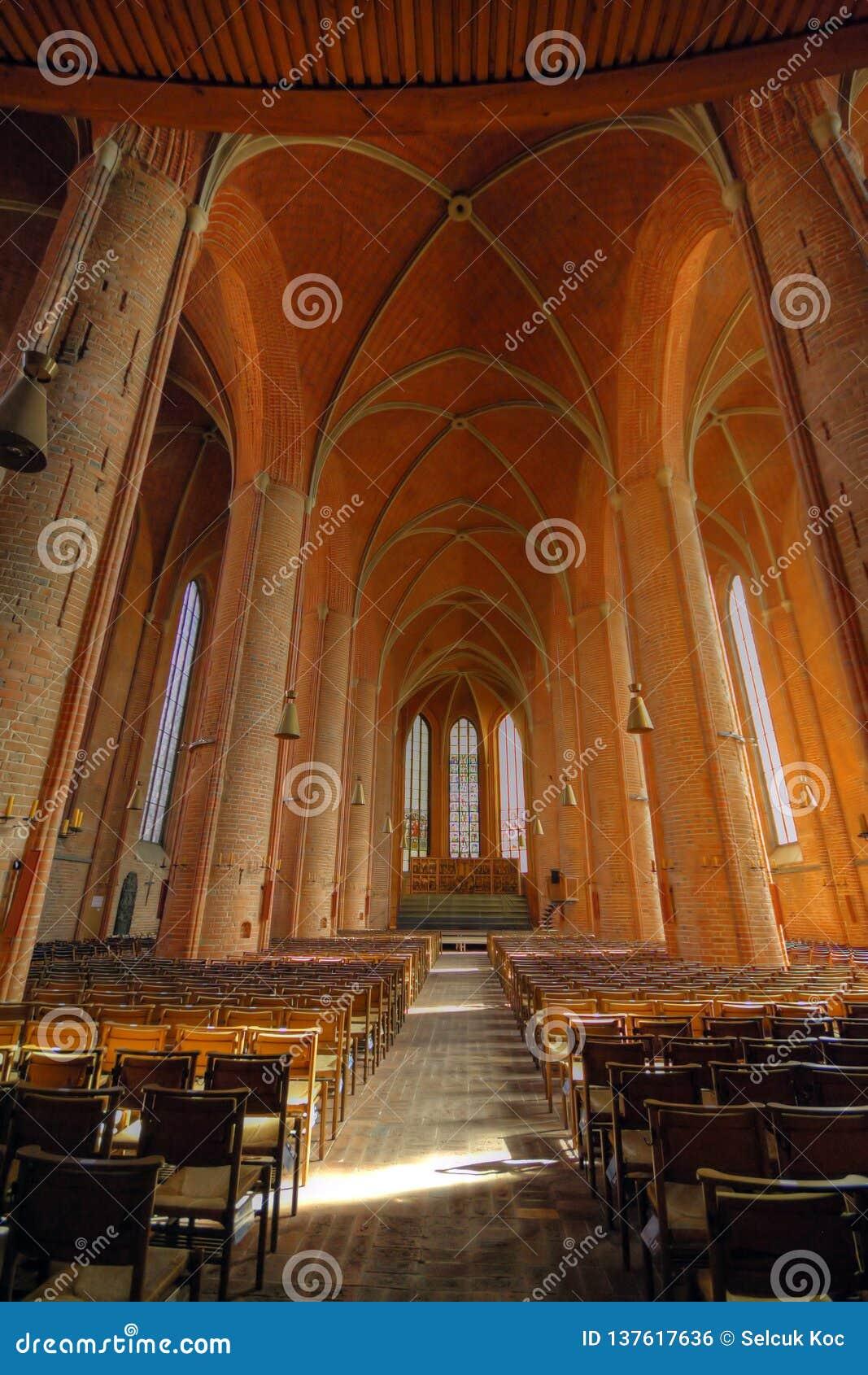 Lutheran kerk Marktkirche St Georgii et Jacobi-binnenland in Hanover Duitsland