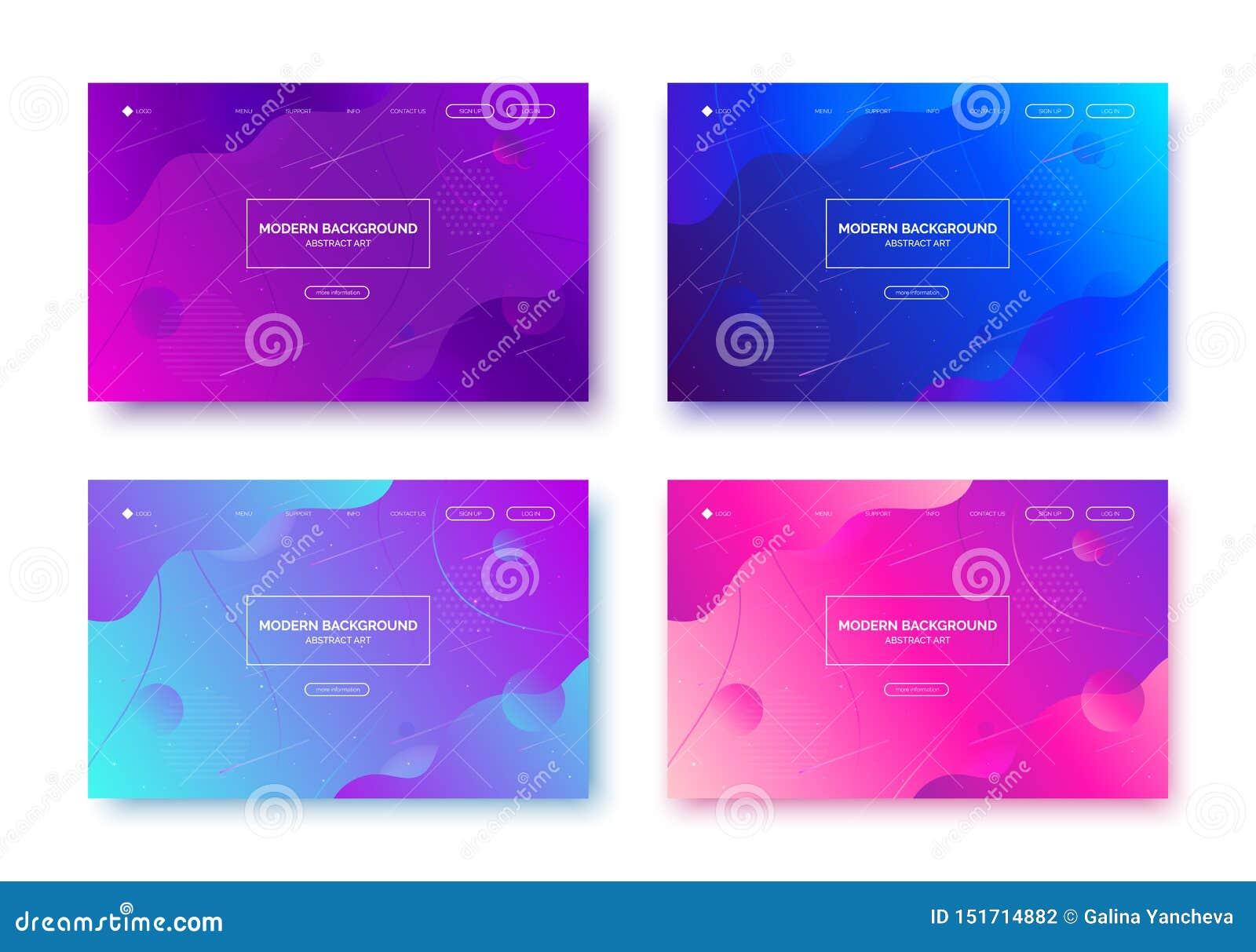 Lutningvätskebakgrund, baner för presentation som landar sidan, webbplats