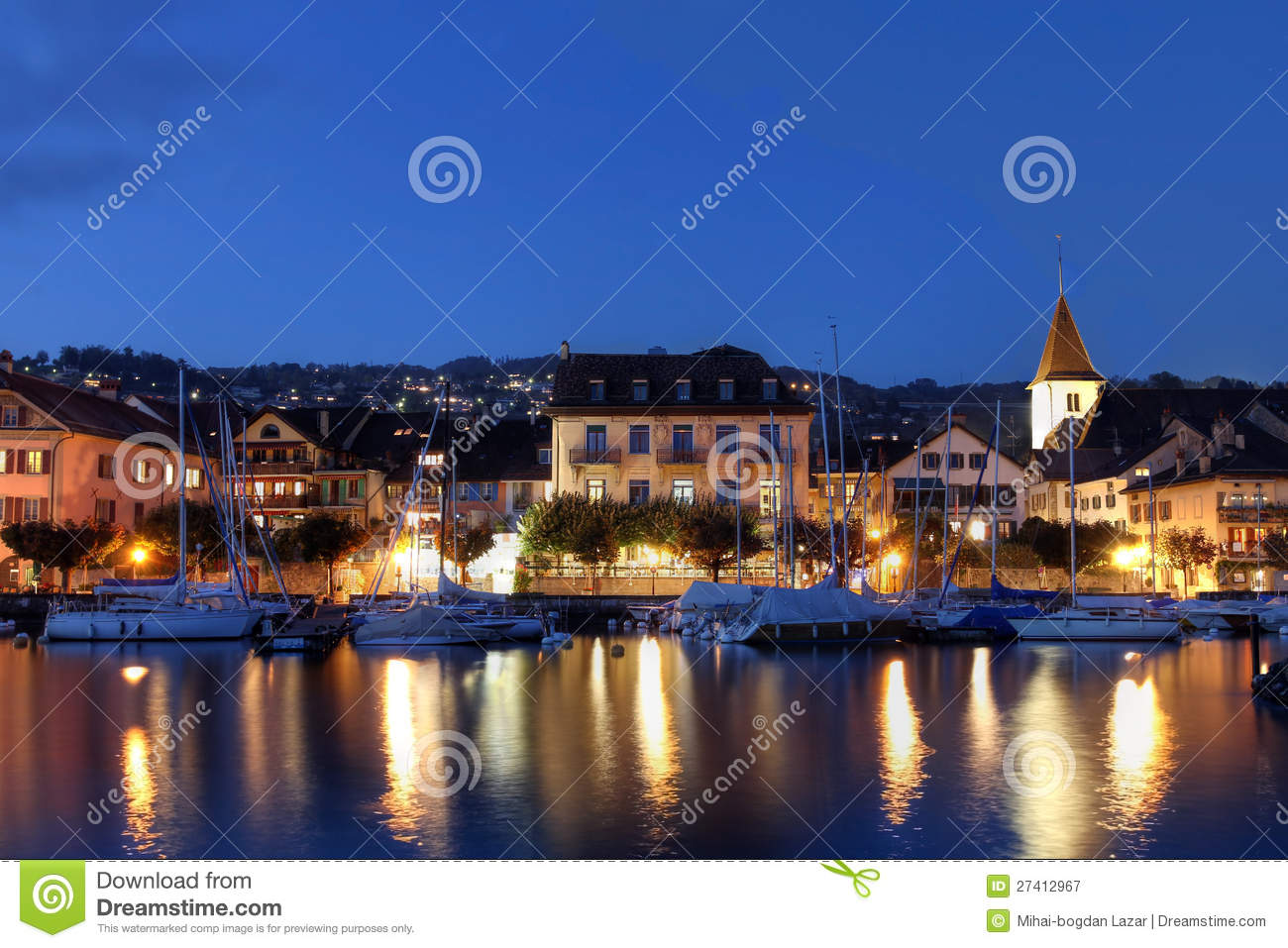 Lutry Switzerland  city pictures gallery : Lutry, Switzerland Royalty Free Stock Photography Image: 27412967